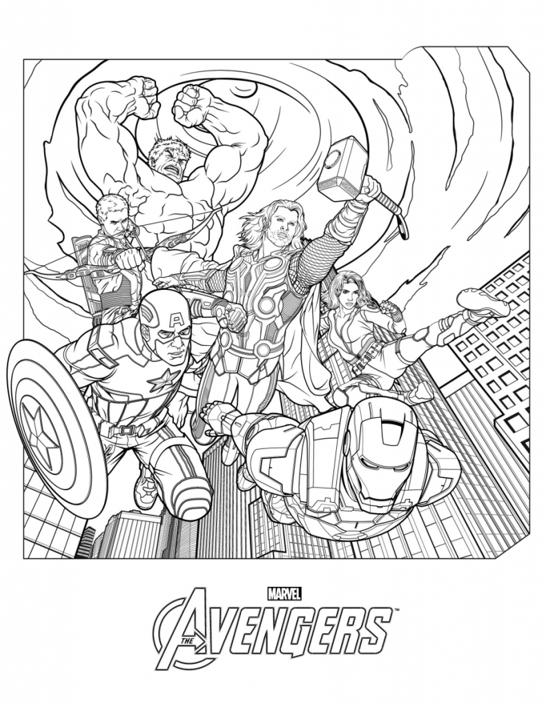 Avengers Coloring Pages | Coloring Pages | Avengers Coloring