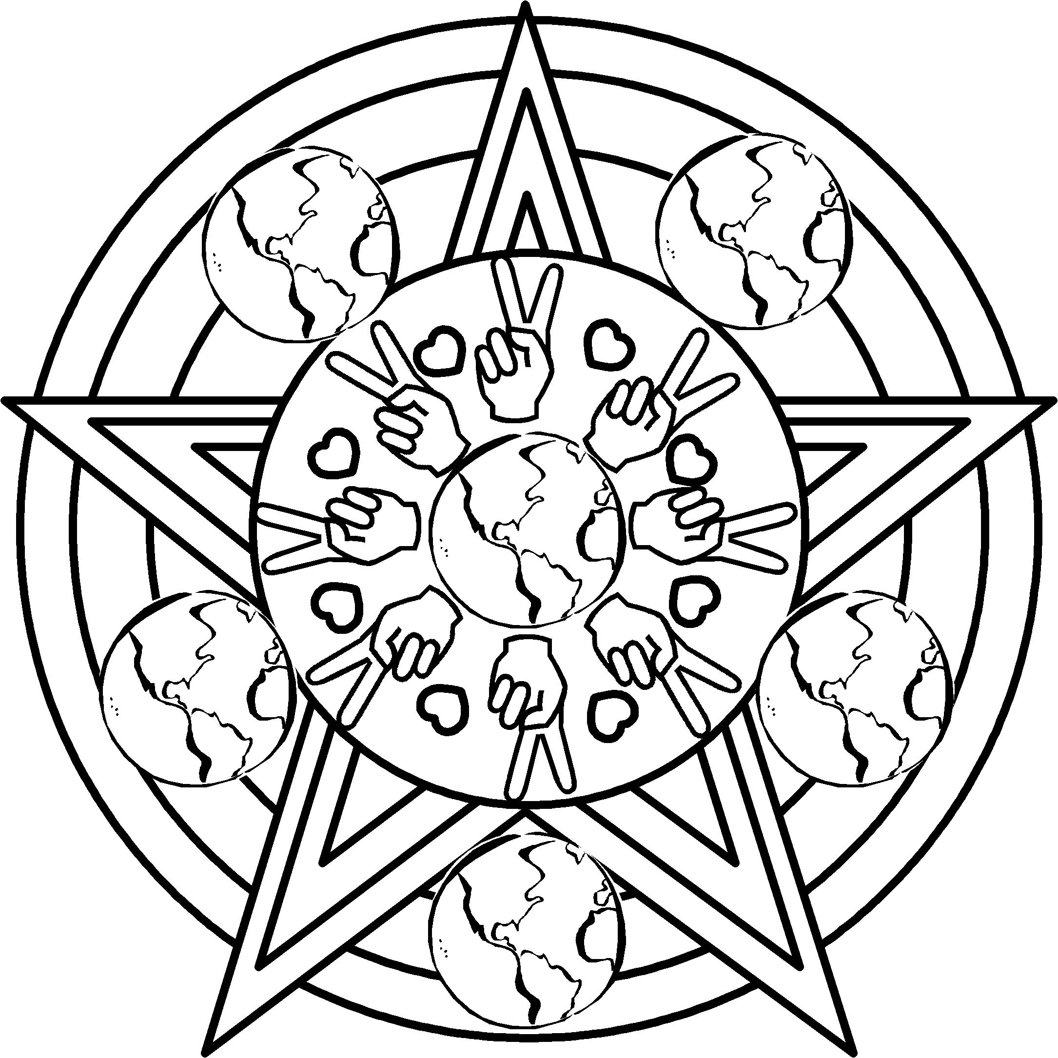 Peace Coloring Pages | First Day/week Back At School