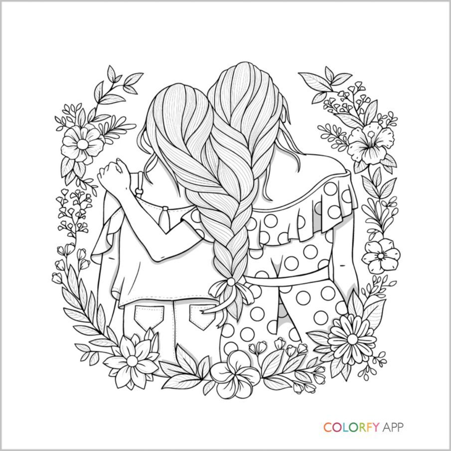 Pin By Yooper Girl On Color - Hair | Coloring Pages, Bff