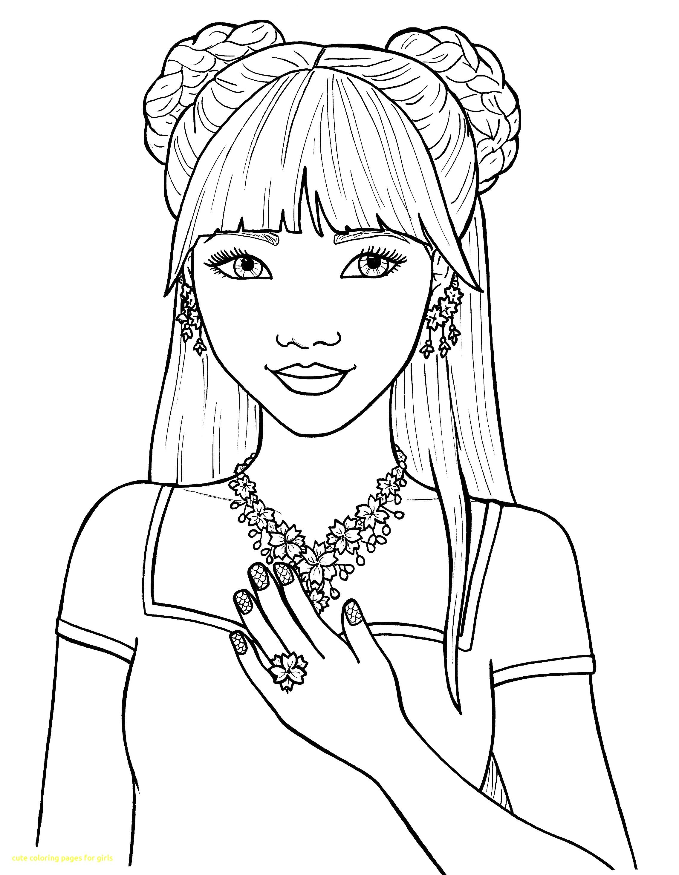 Cute Coloring Pages For Girls With Of Inside Teens Teenage