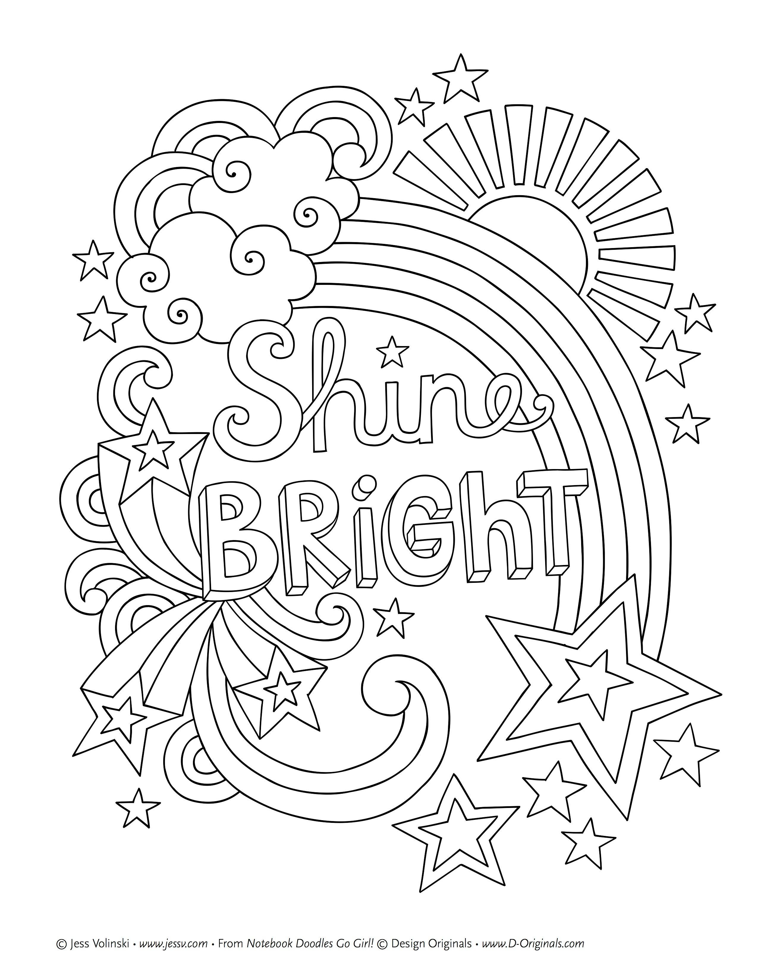 Printed   Color   Quote Coloring Pages, Cute Coloring Pages