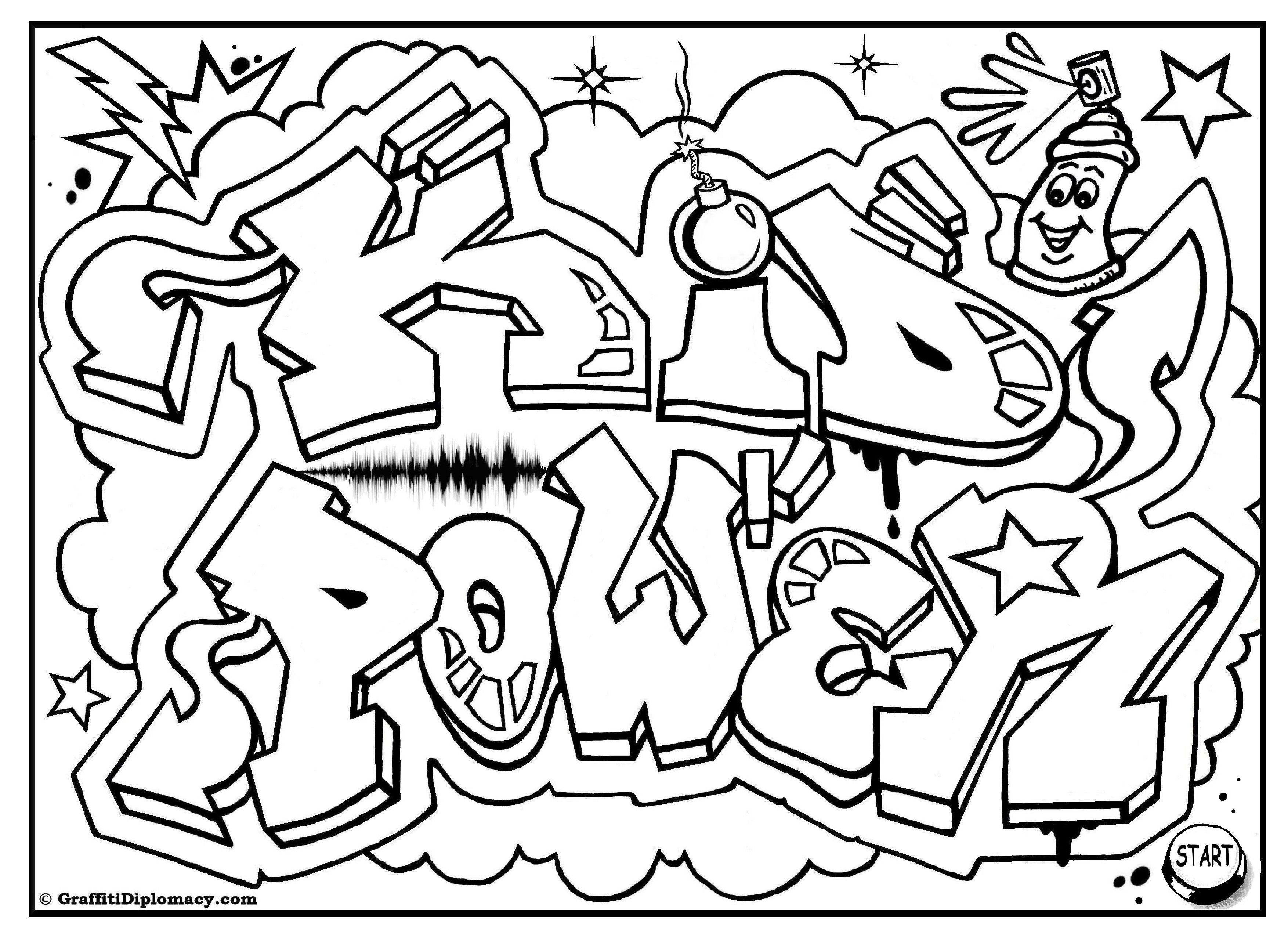 Free Printable, Coloring Pages For Kids Rooms | Coloring The