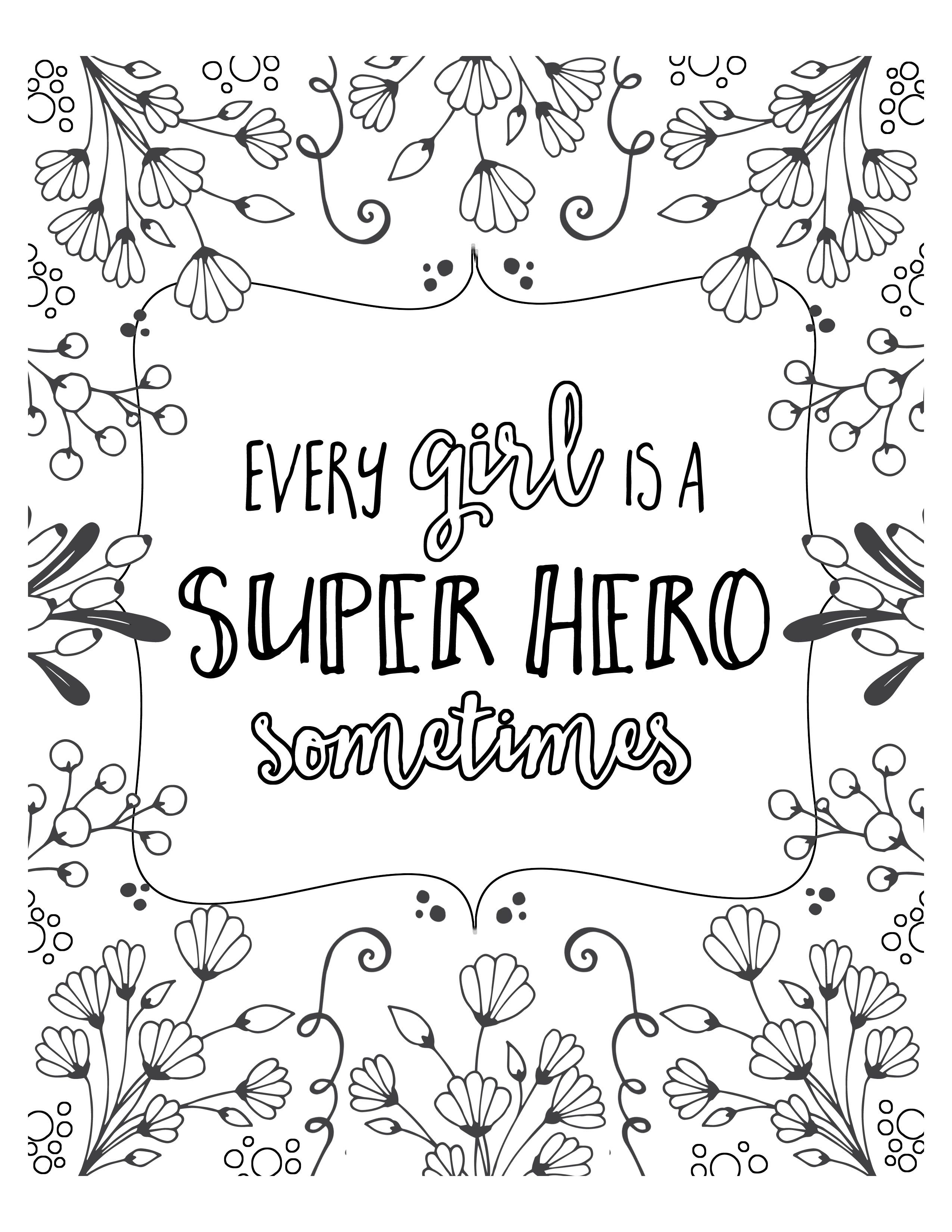 Free Super Hero Coloring Pages   Lil' Luna   Coloring Pages