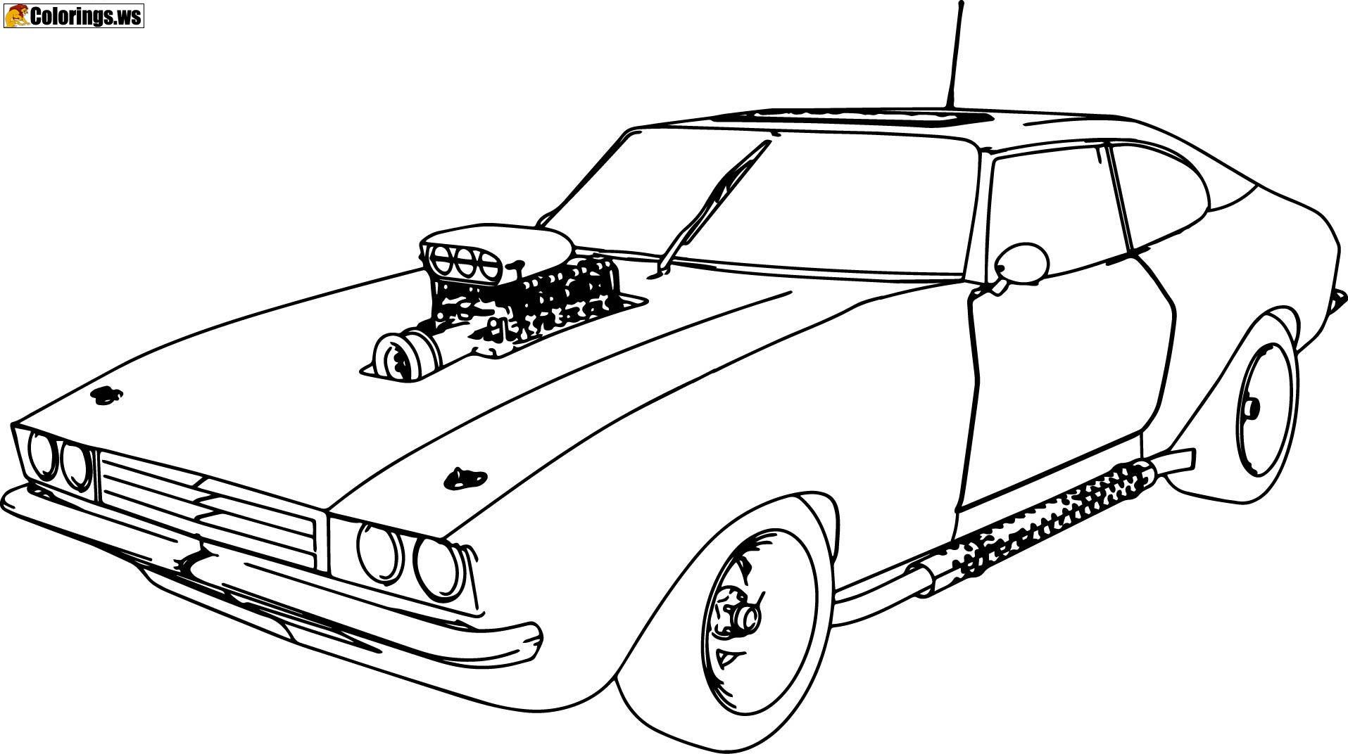 Muscle Sport Car Coloring Pages | Car Coloring Pages | In