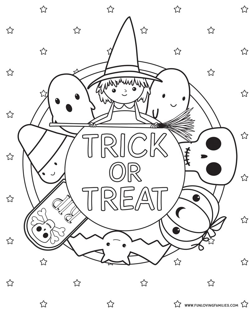 Halloween Coloring Pages (free Printables | Halloween Kids