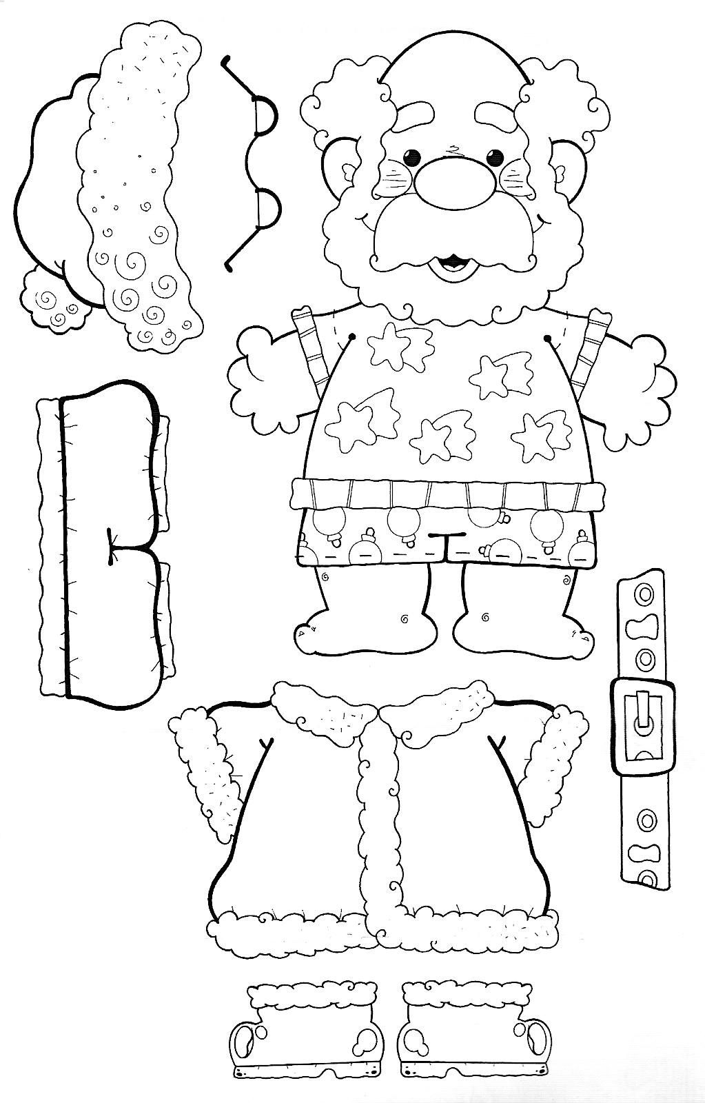 Pin By Becky Adams On Coloring Books   Santa Dress