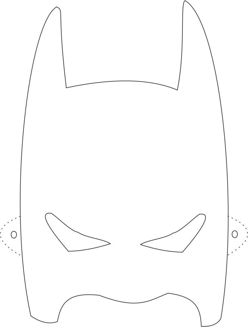 Batman Mask Printable Coloring Page For Kids   Carnaval