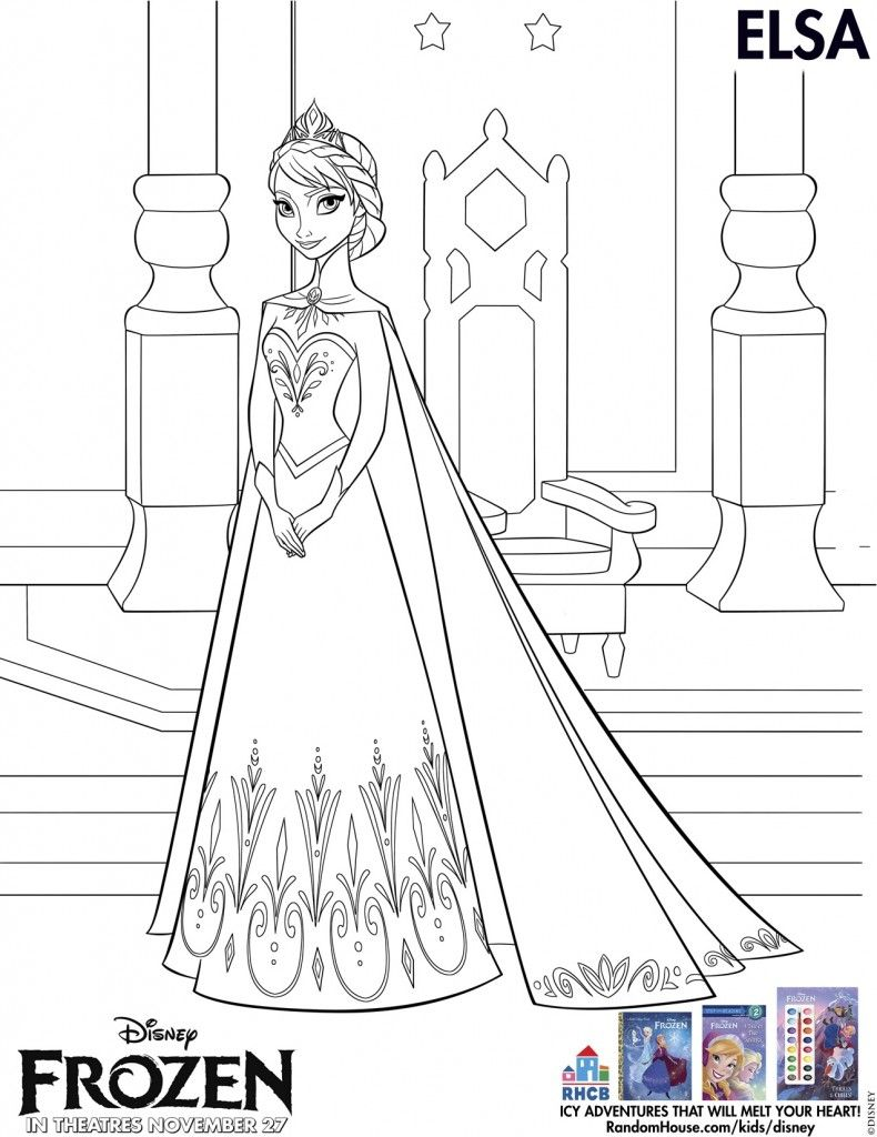 Disney's Frozen Coloring Pages And Printables For Kids