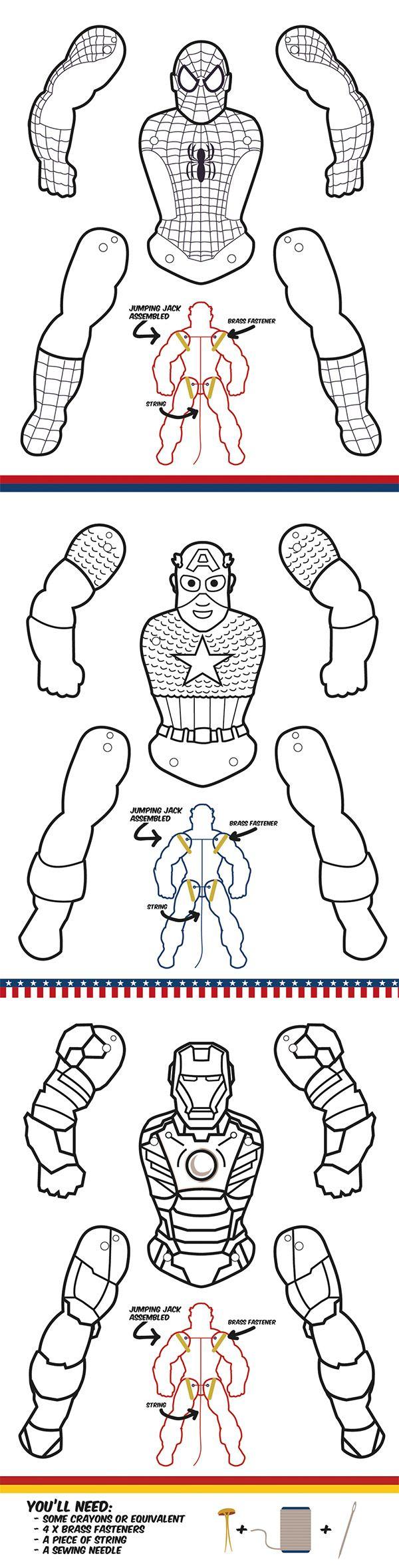 Superhero Jumping Jacks - Coloring Edition | Preschool