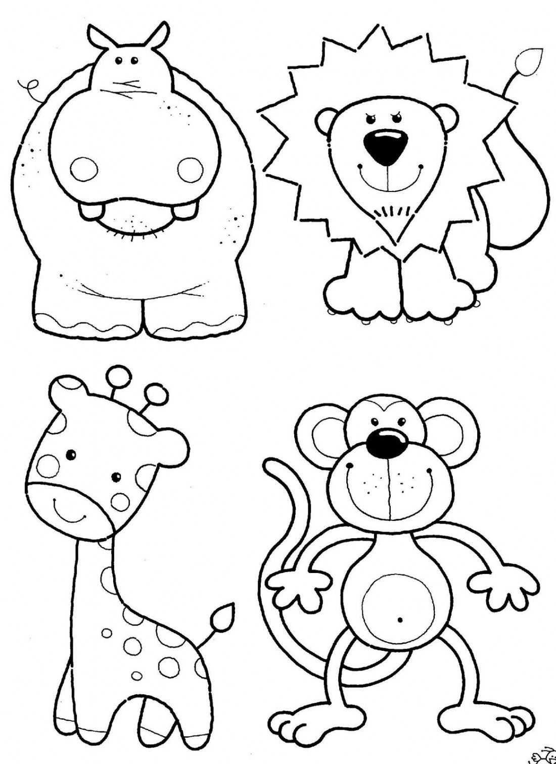 Free Animal Coloring Pages Kids I'd Color Or Paint These