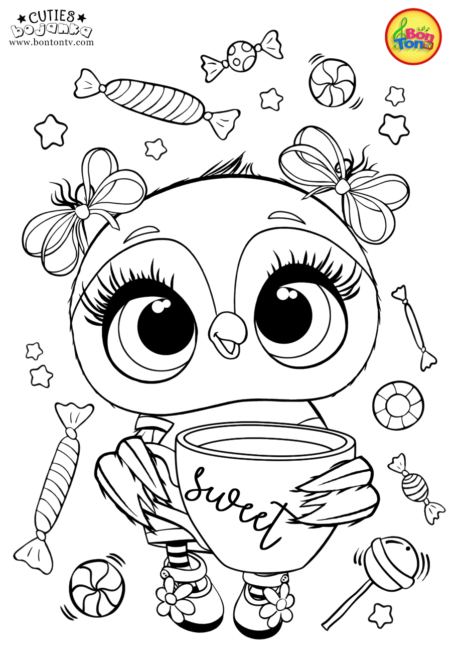 Cuties Coloring Pages For Kids - Free Preschool Printables