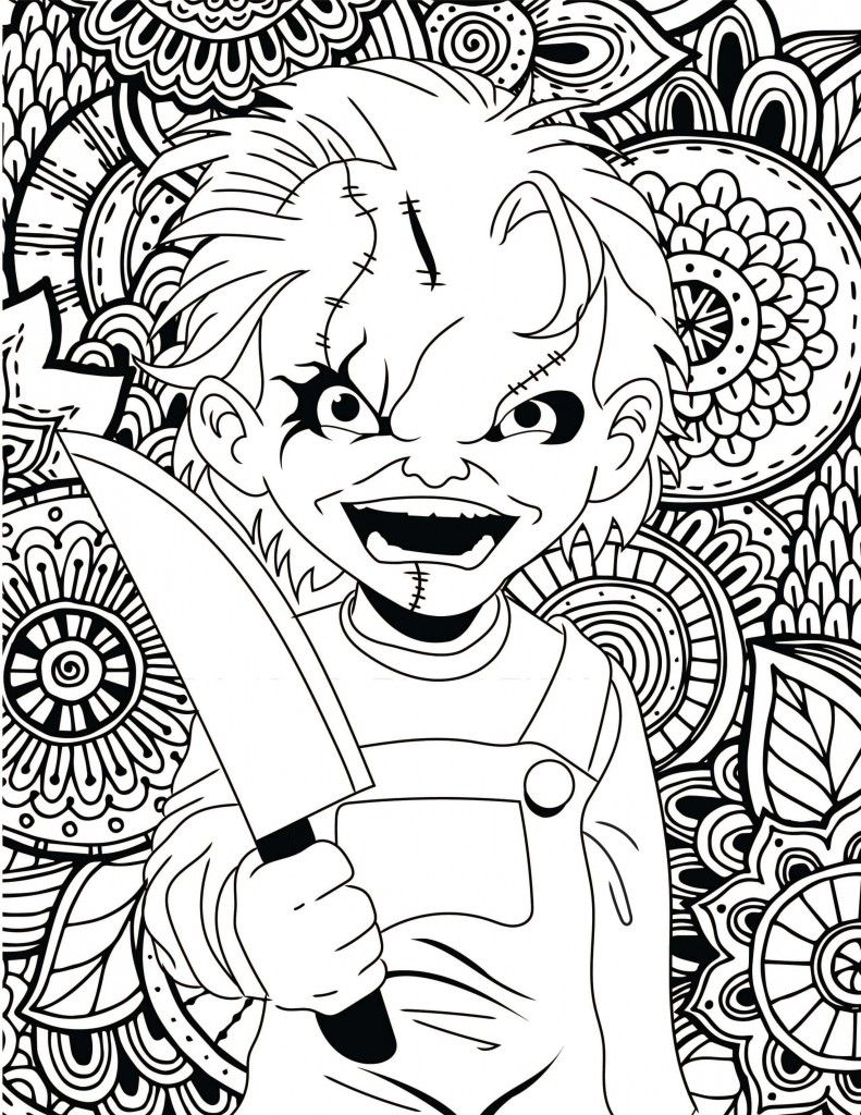 Horror Movies Printable Coloring Pages | Halloween Coloring