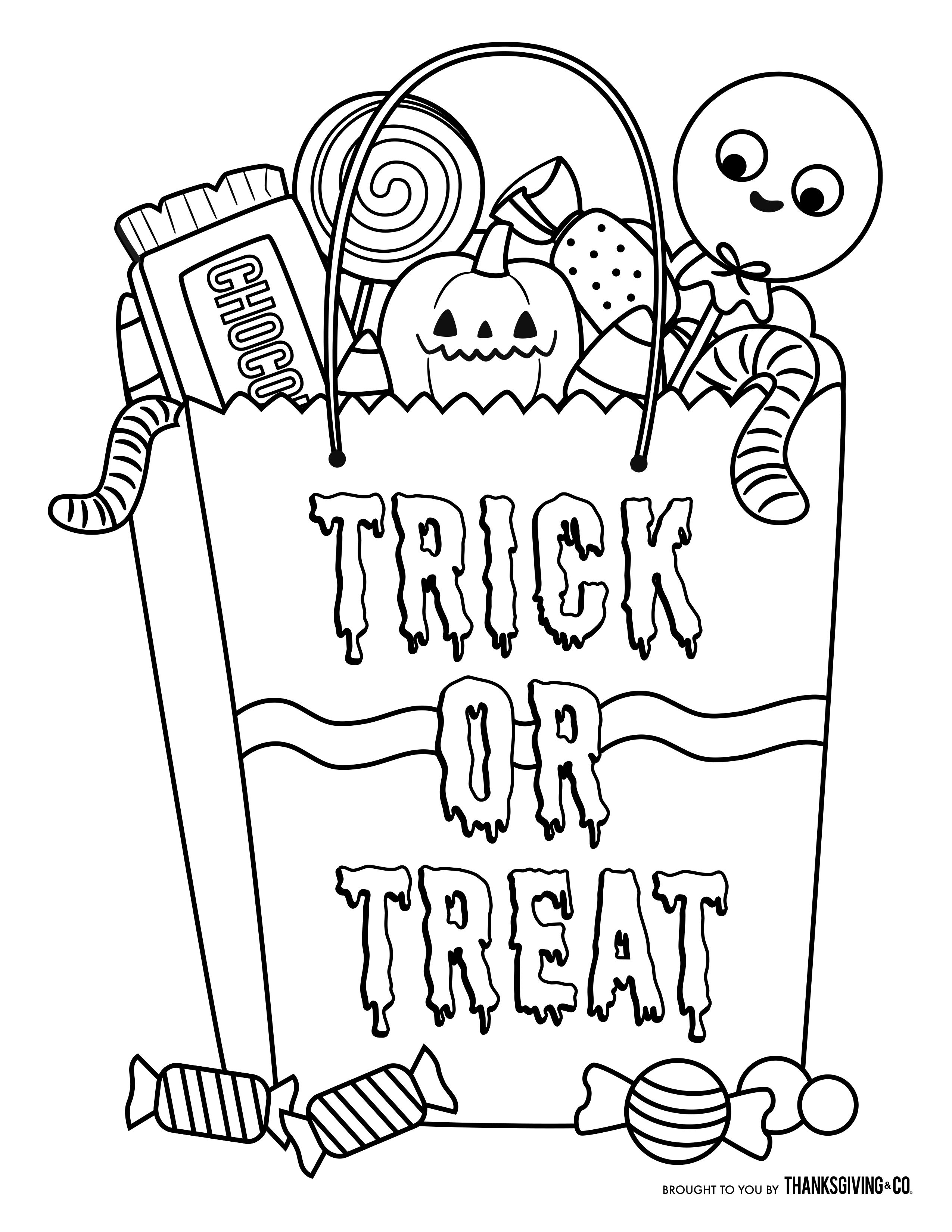 Image Result For Candy Halloween Coloring Pages | Halloween