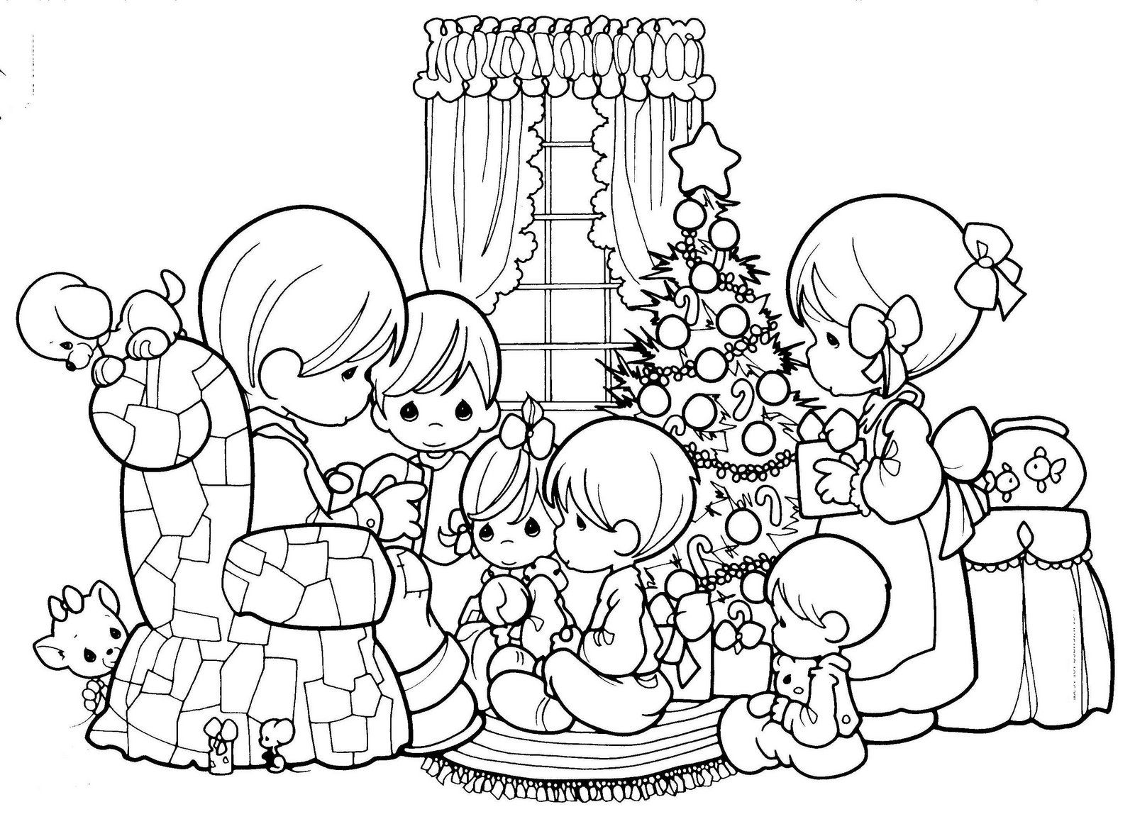 Precious Moments Christmas Coloring Pages | Coloring Pages