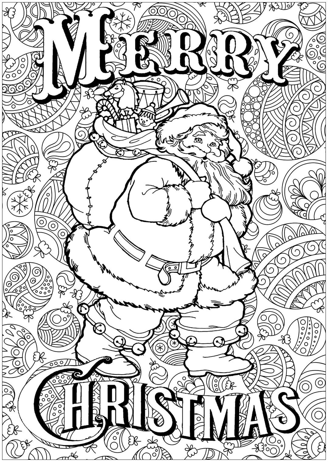Santa Coloring Pages | Holiday Coloring Pages | Printable