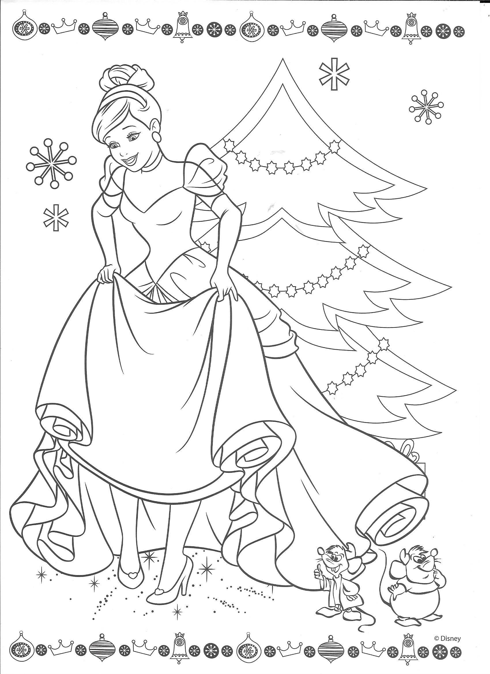 Cinderella Christmas | Kid Stuff | Disney Coloring Pages