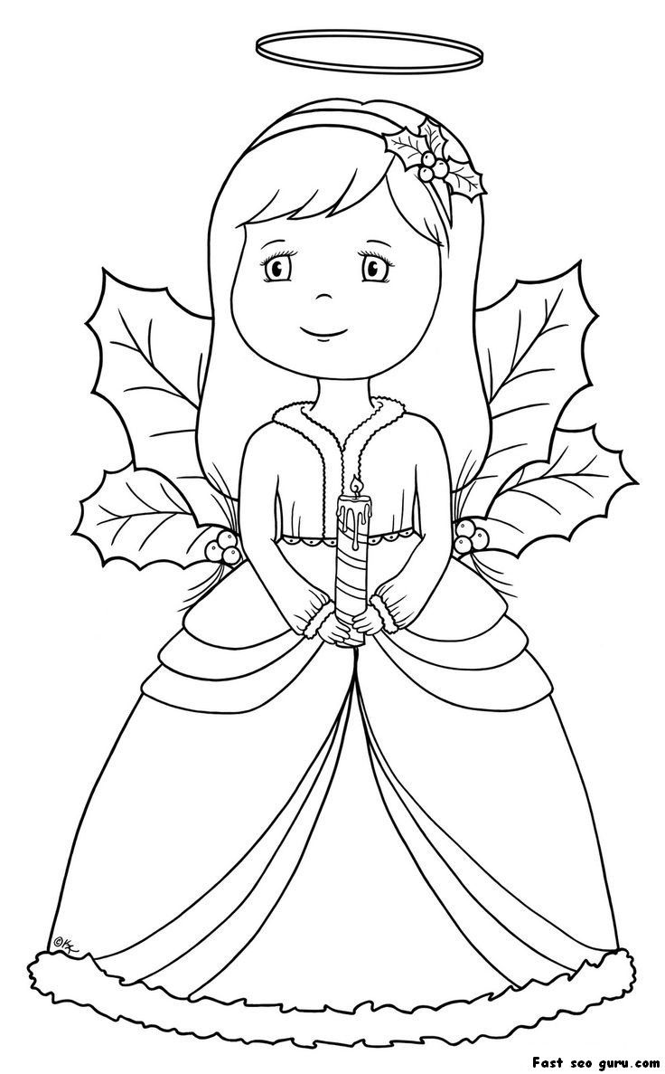 Christmas Angel Coloring Pages | Homepage â» Christmas