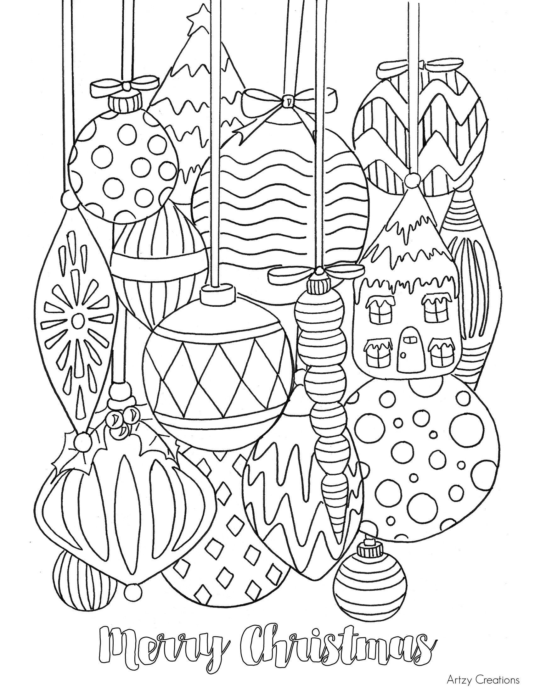 Printable Christmas Coloring Pages For Adults Christmas