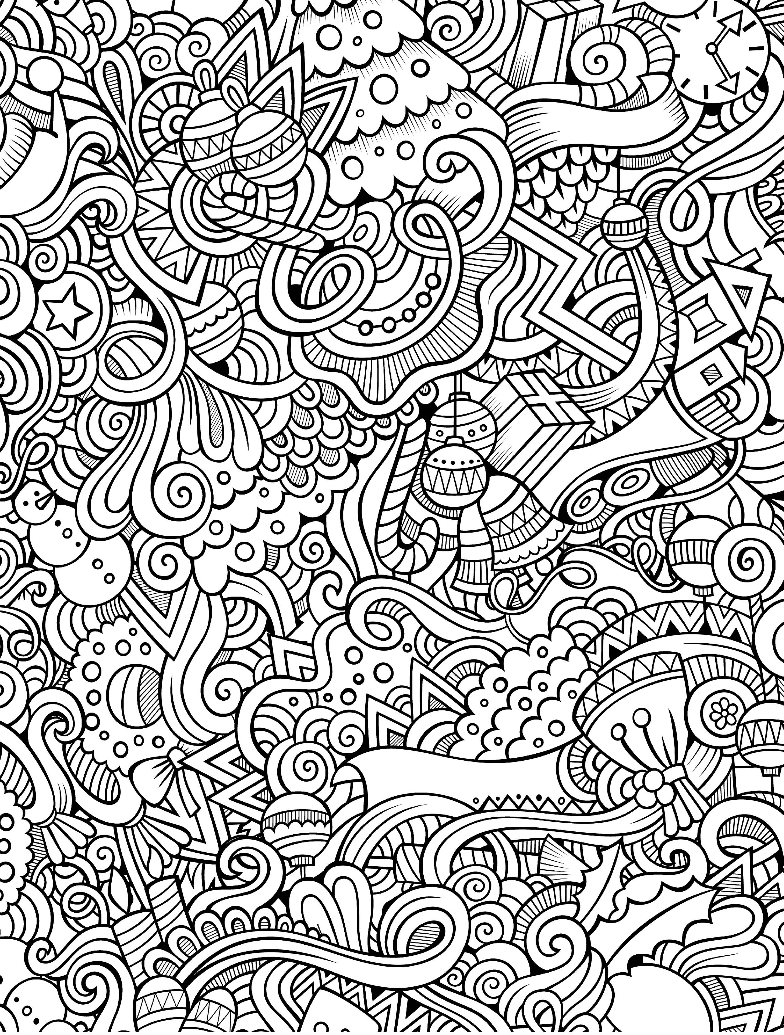 10 Free Printable Holiday Adult Coloring Pages | Color Pages