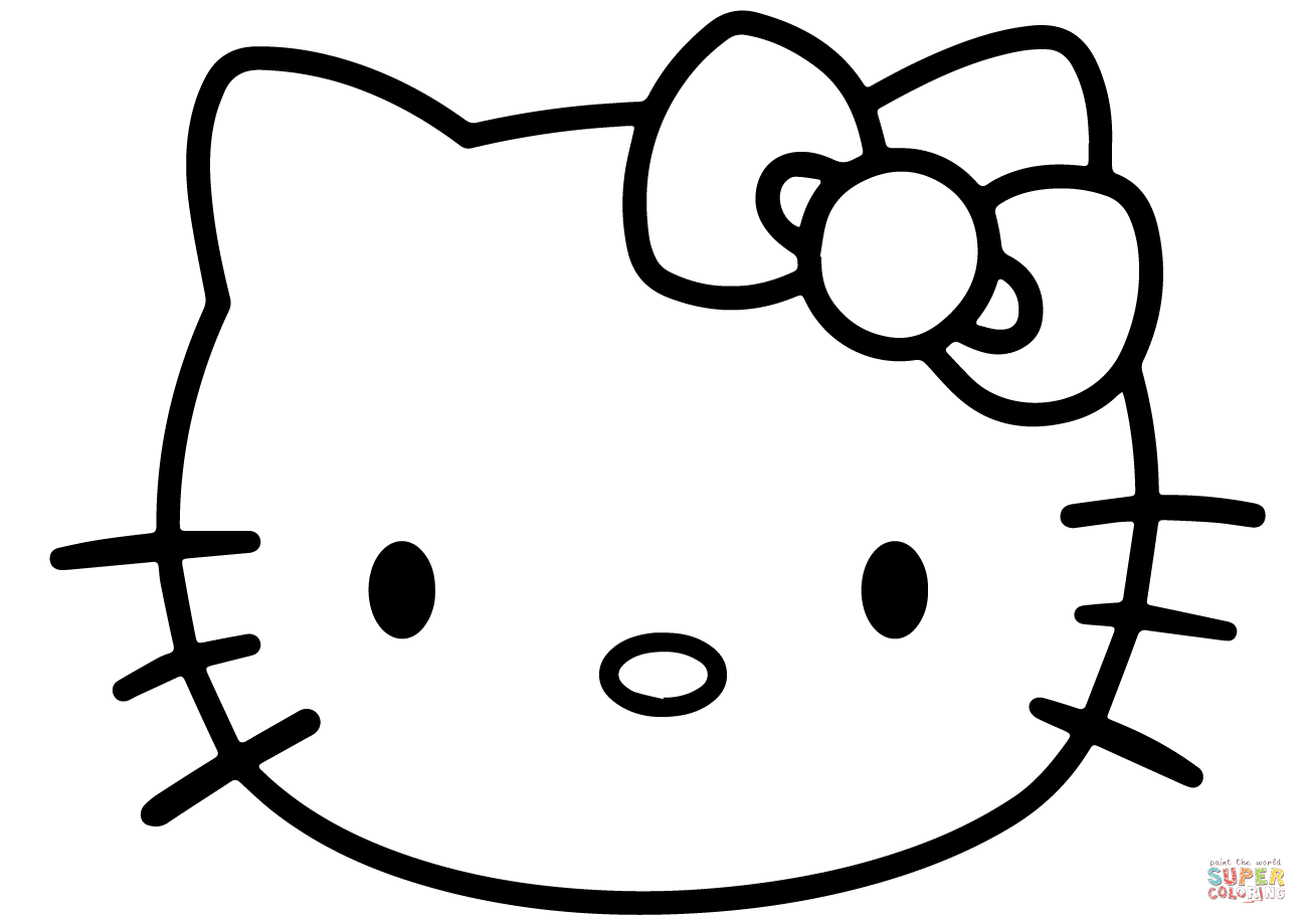 Hello Kitty Face Coloring Page | Free Printable Coloring