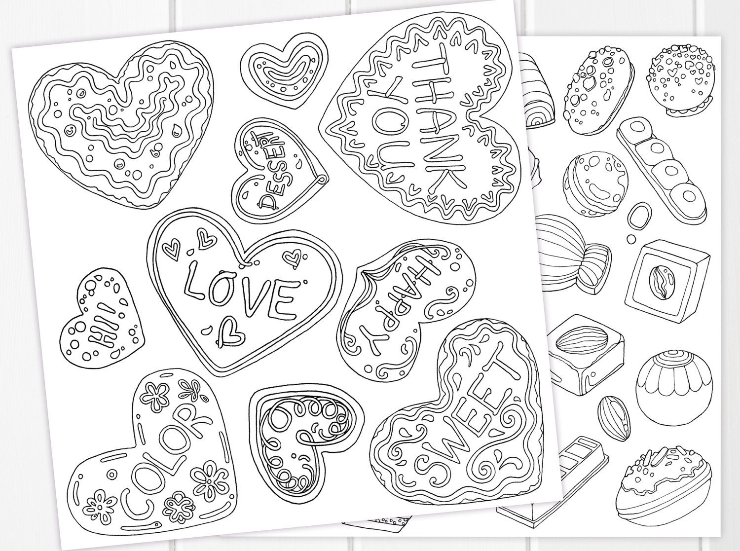 Cookies & Chocolates Coloring Pages Printable | Sweet