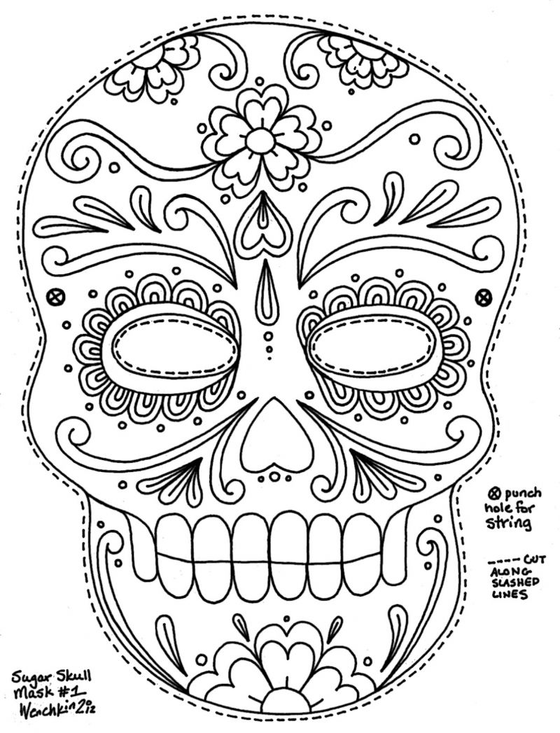 Pin By Jessica Calaway On Husband Things | Skull Coloring