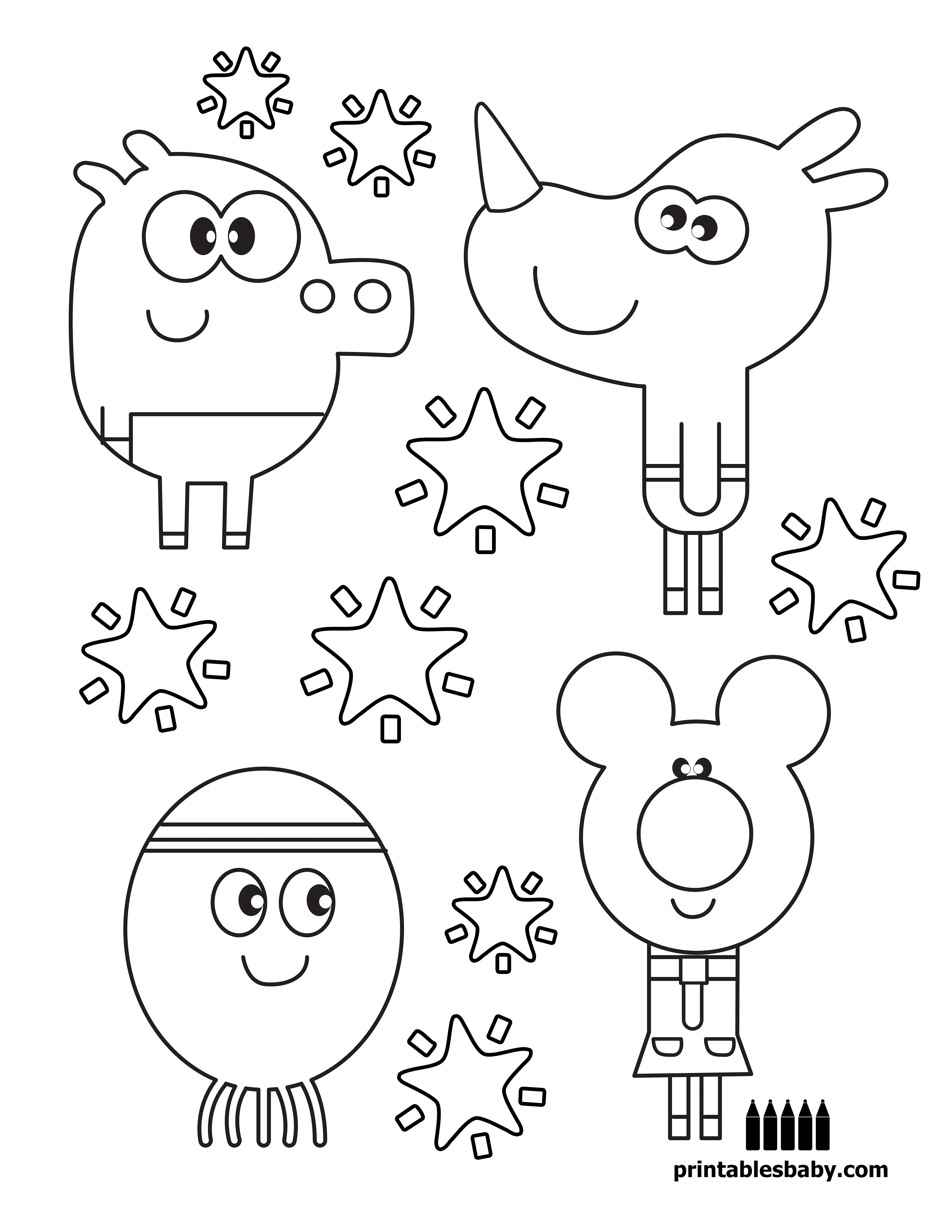 Hey Duggee | Printables Baby - Free Cartoon Coloring Pages