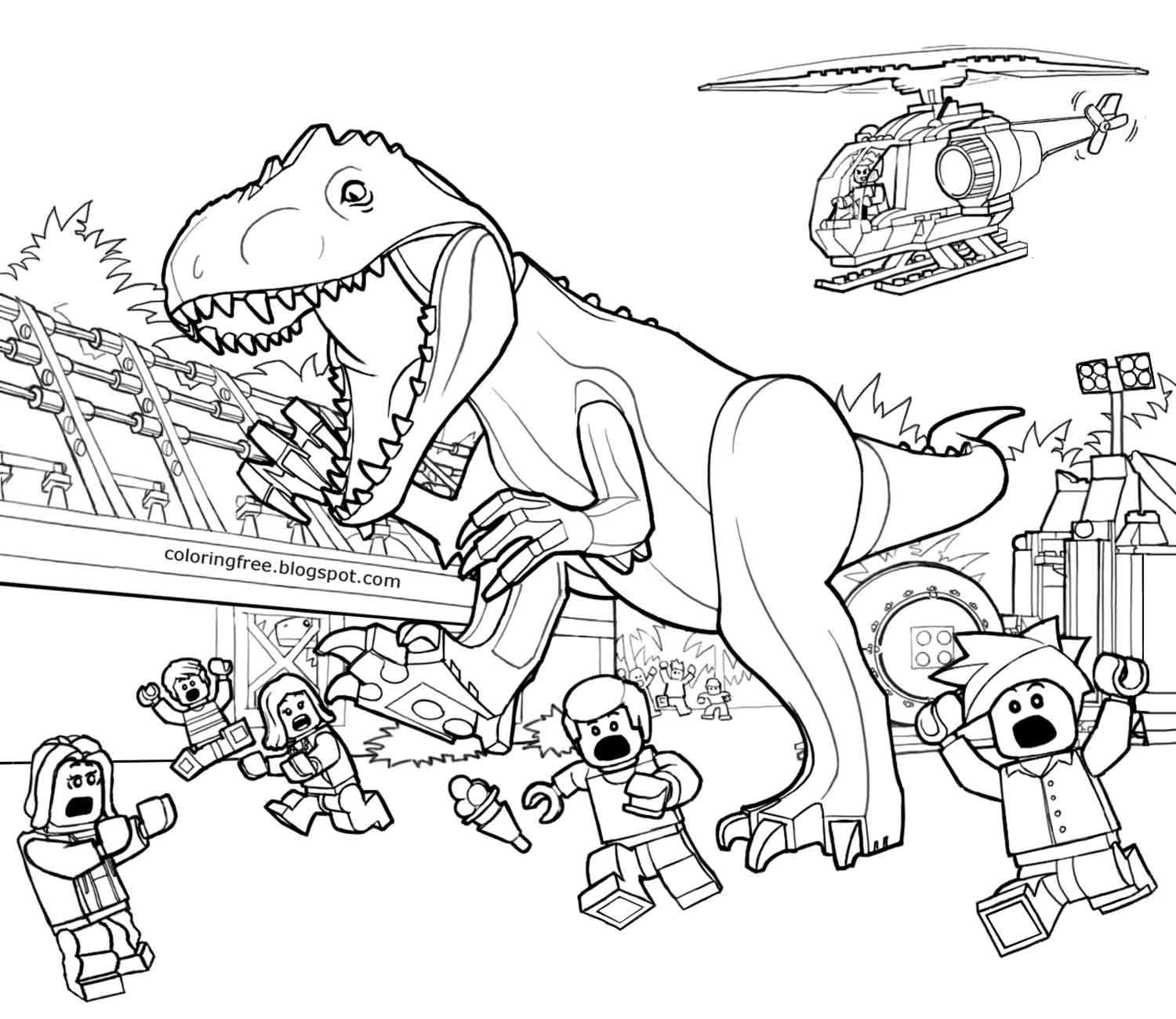 Dinosaur Landscape Coloring Pages | Yep, I'm An Early Ed