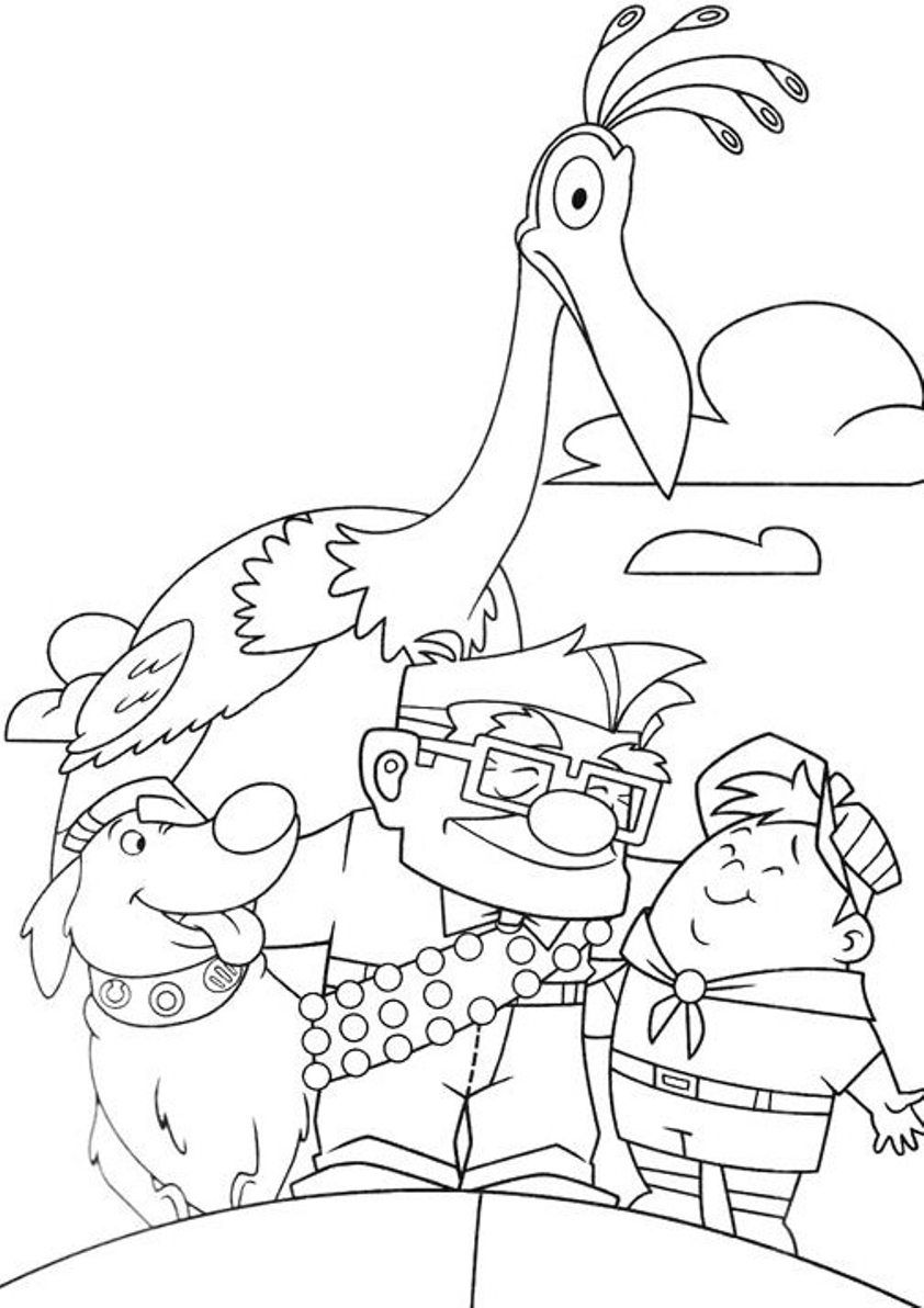 Pixar Up Coloring Pages 02 | Coloring | Cartoon Coloring
