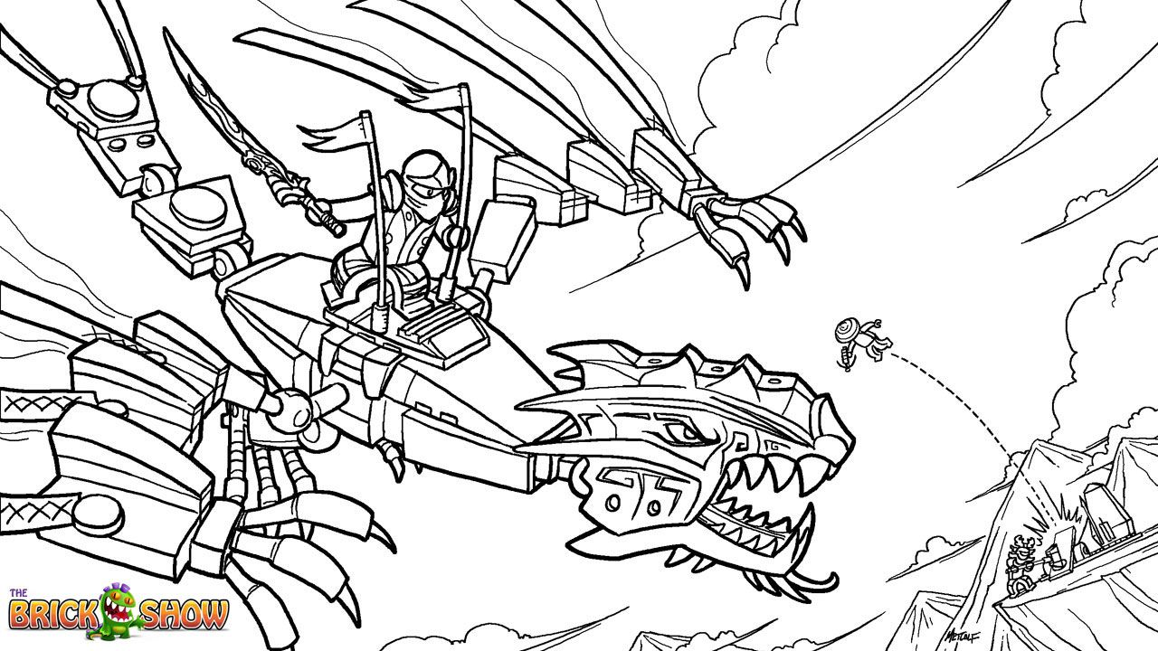 Ninjago Coloring Pages - Free Large Images | Dessert