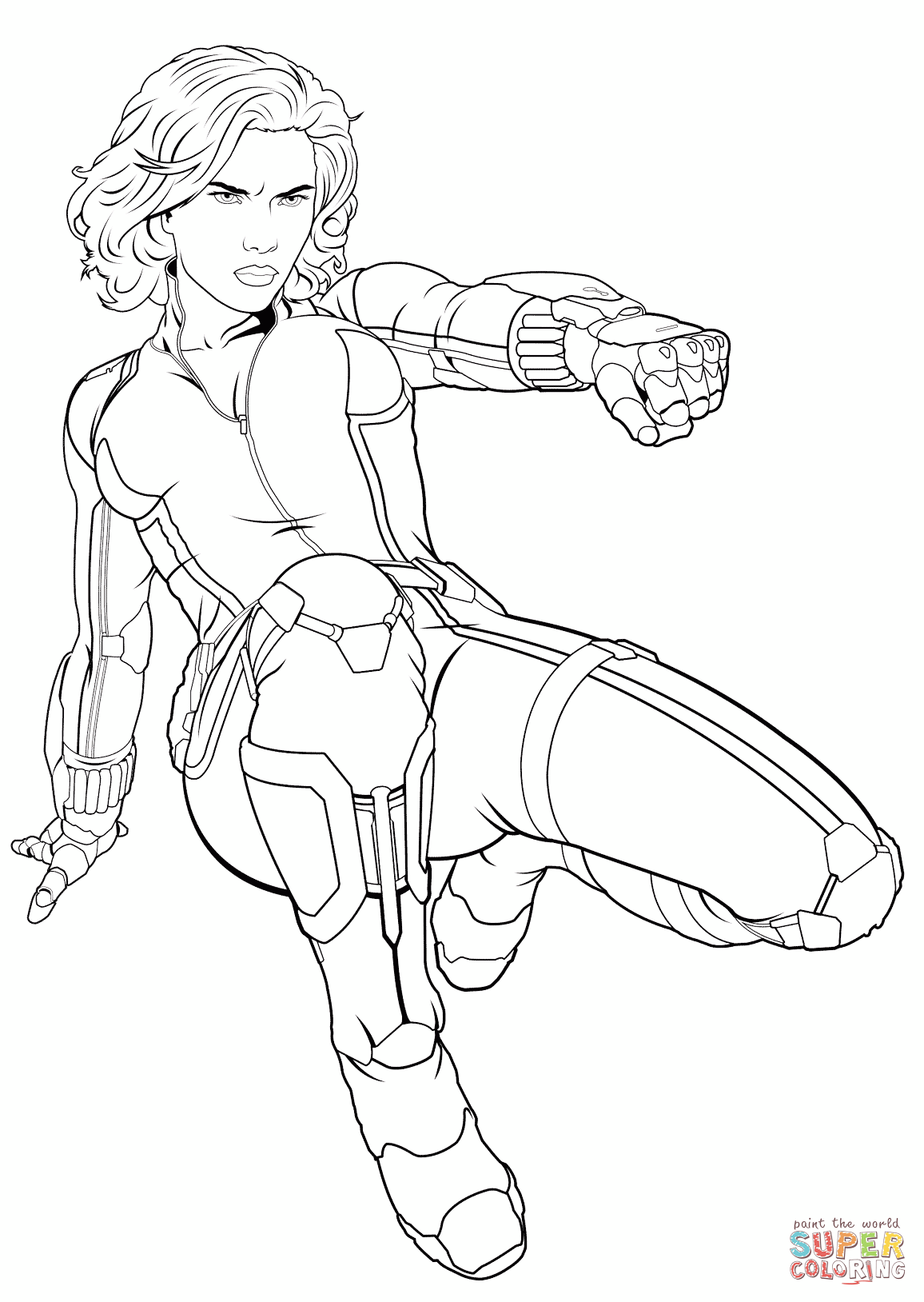 Avengers Black Widow | Super Coloring | Coloring Pages