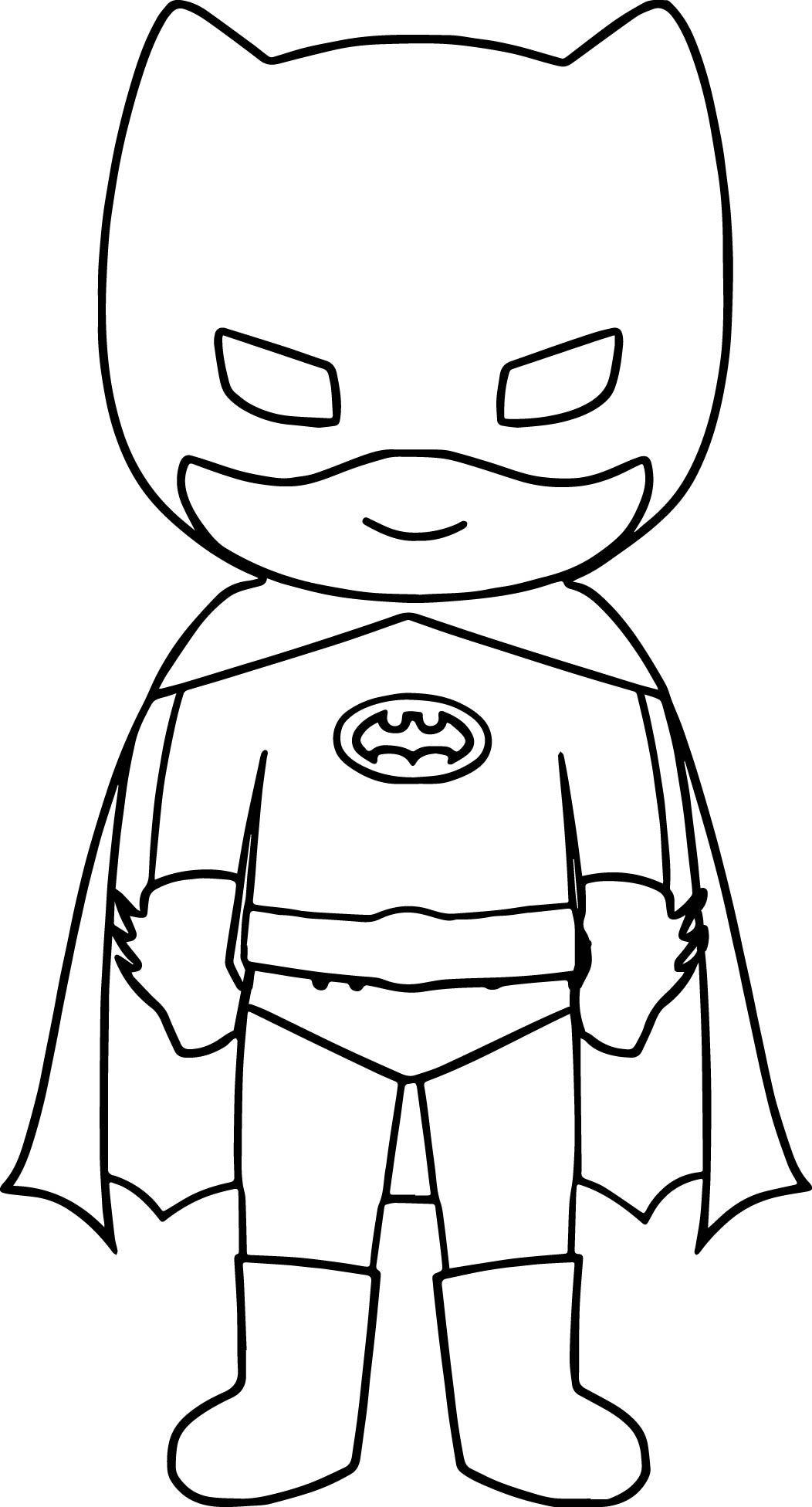 Cool Bat Superhero Kids Coloring Page | Education