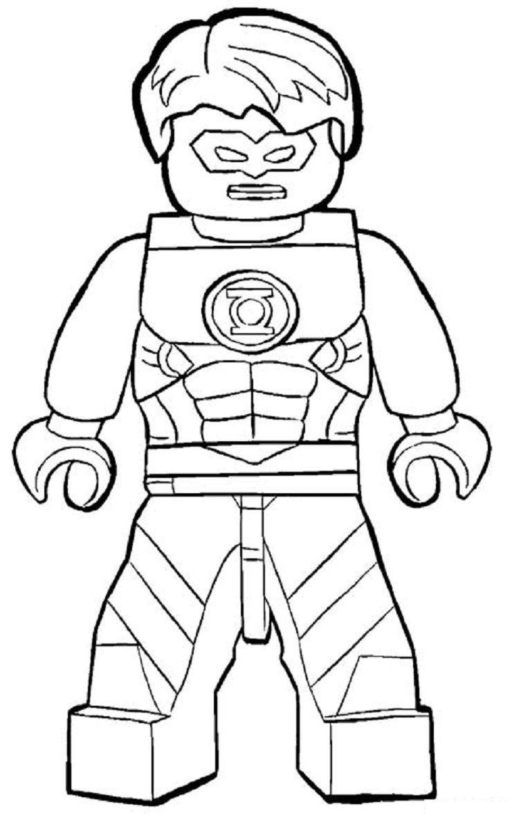Lego Green Lantern Coloring Pages | Dbest Coloring Pages