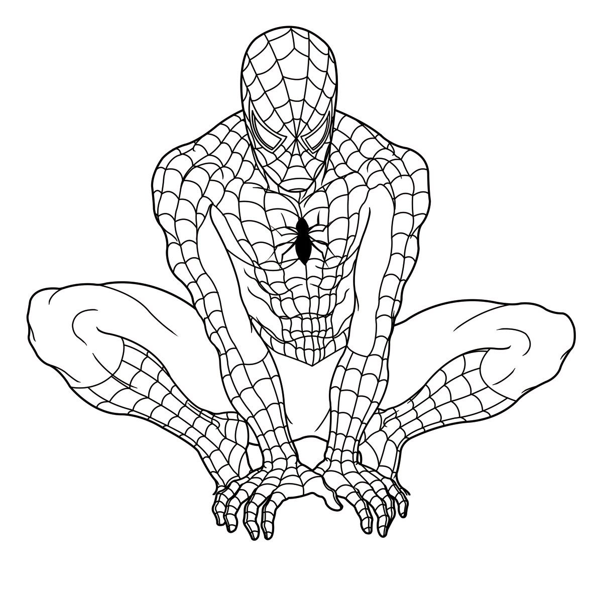 Spiderman Coloring Pages - Free Large Images | Zenaida