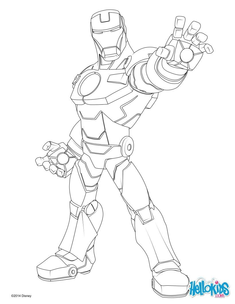 Iron Man Coloring Page More Super Heroes Coloring Pages On