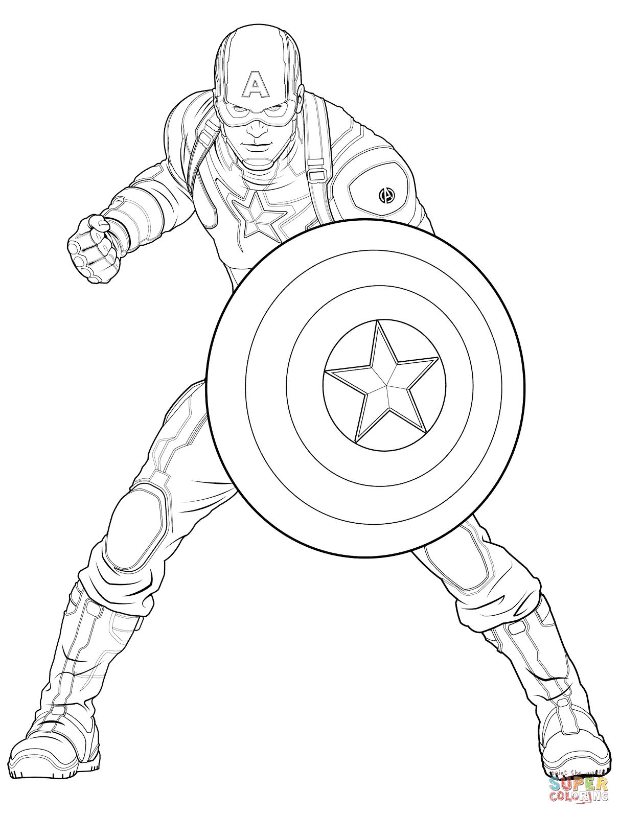 Avengers Captain America | Super Coloring | Kifestå�