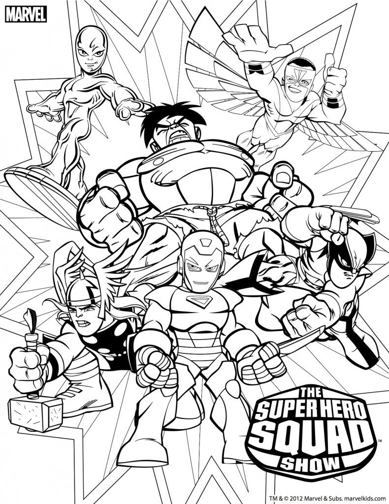 Super Hero Squad Coloring Pages | Marvel Coloring, Superhero