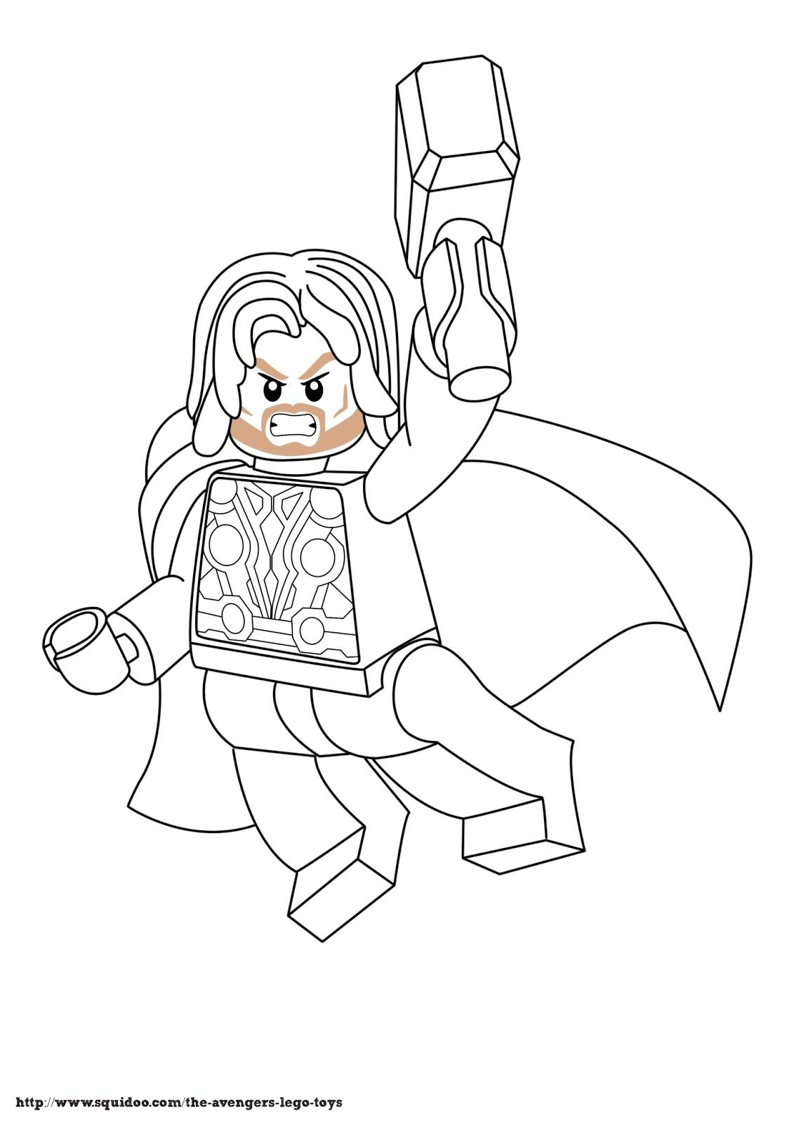Thor Coloring Pages To Print | Avenger+lego+coloring+