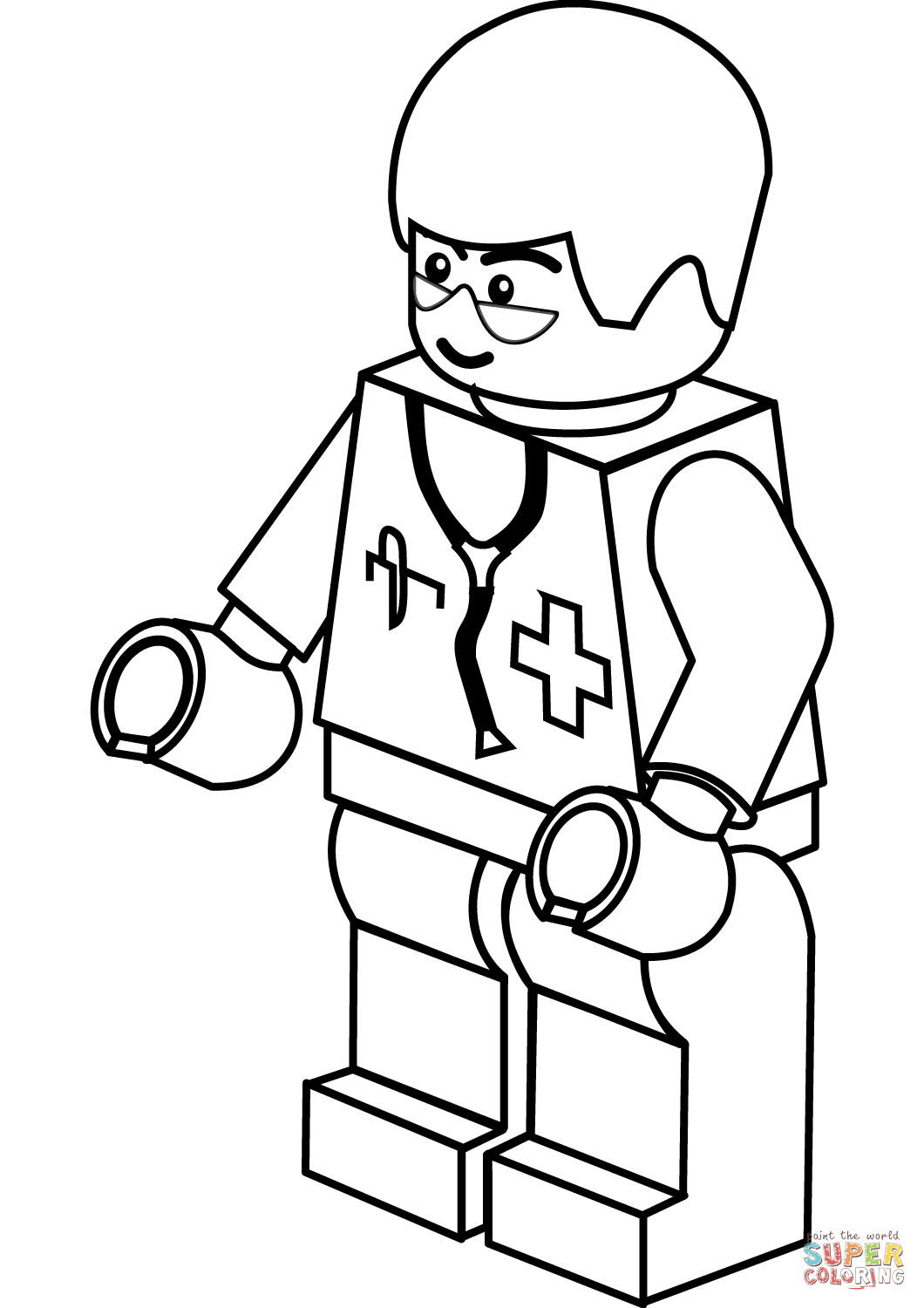 Lego Doctor Coloring Page | Free Printable Coloring Pages