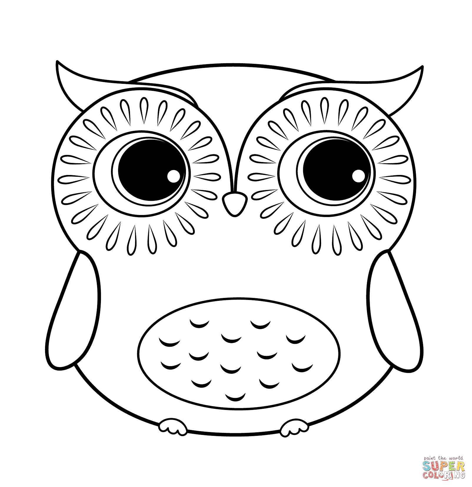 Cartoon Owl Coloring Page | Free Printable Coloring Pages
