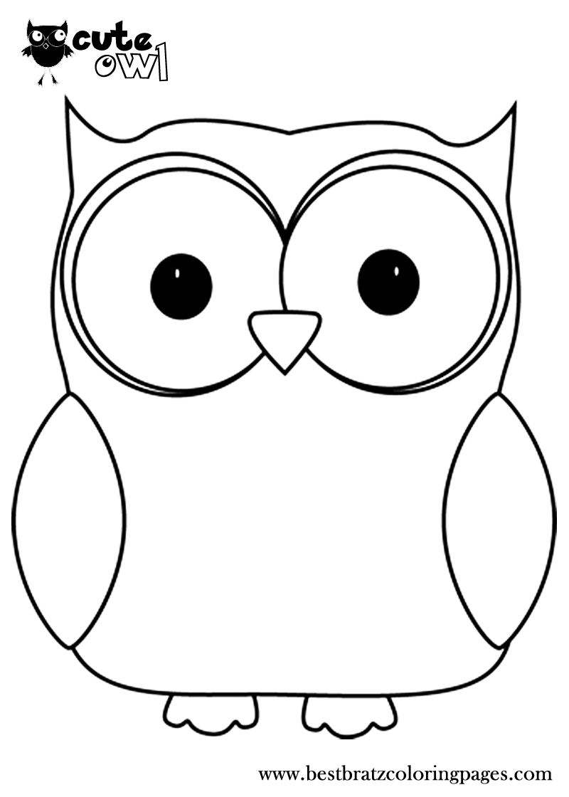 Cute Owl Coloring Pages | Bratz Coloring Pages | Owl