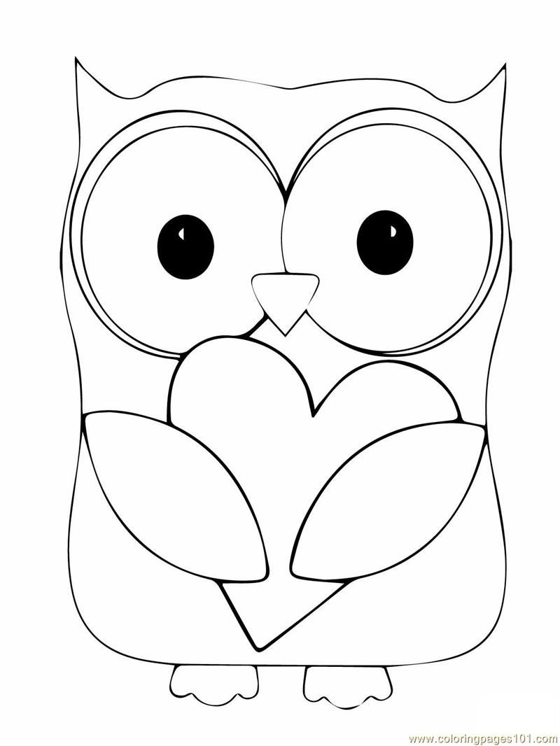 Owl Coloring Page | Coloring Pages Owl (birds > Owl) - Free
