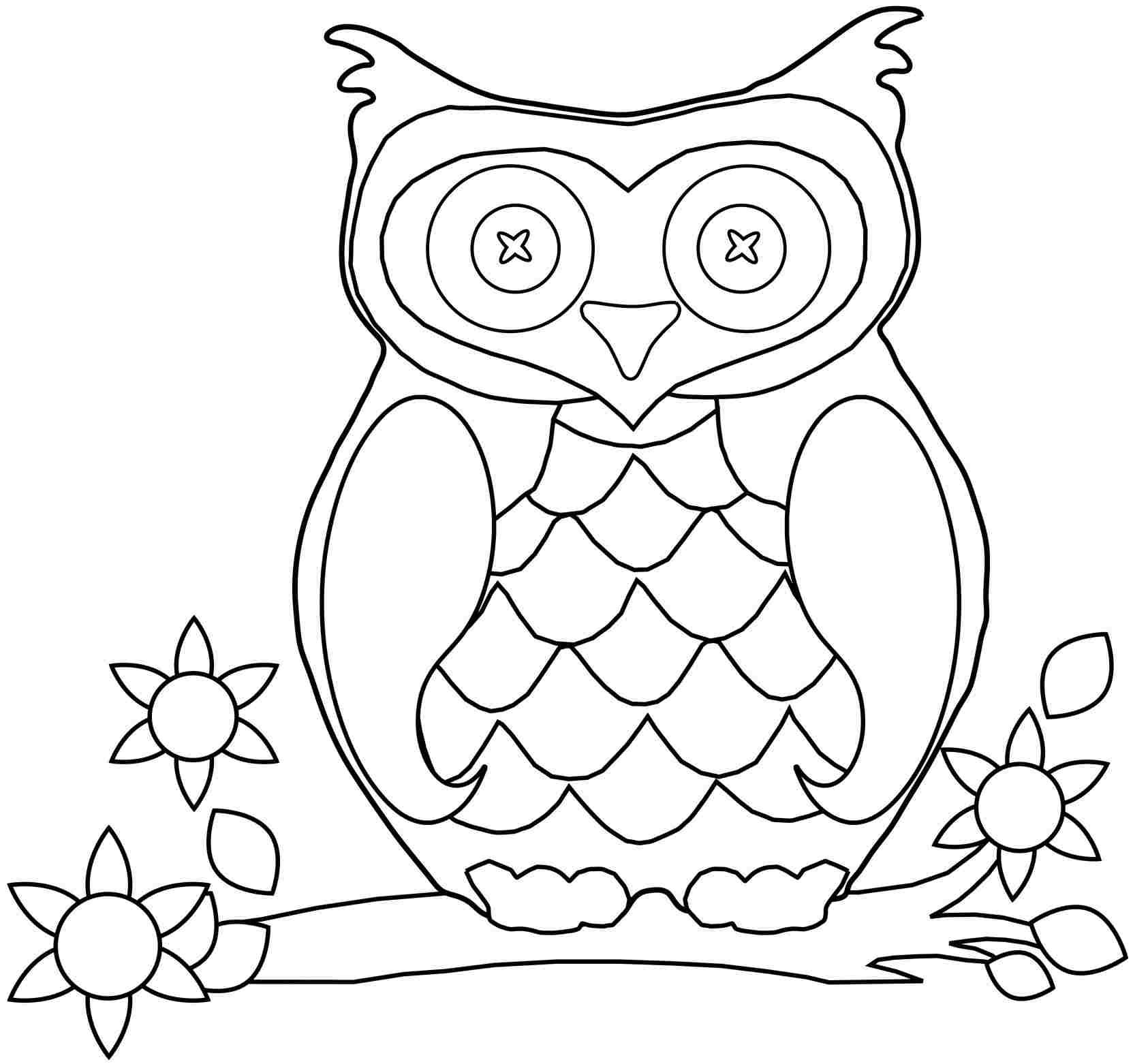 Printable Owl Picture | Owl Printable Coloring Pages