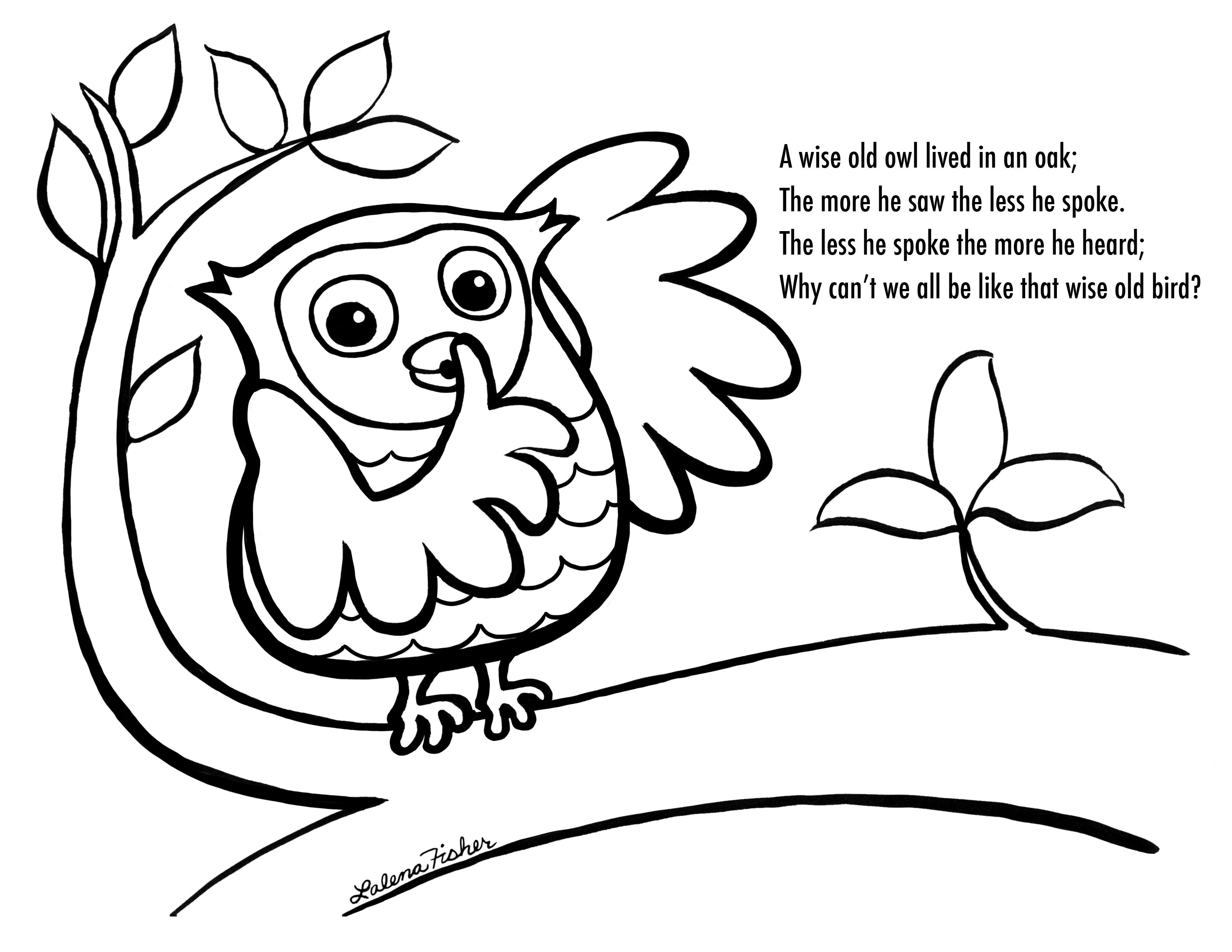 Owl Coloring Pages Free Printables | Wise Old Owl Coloring