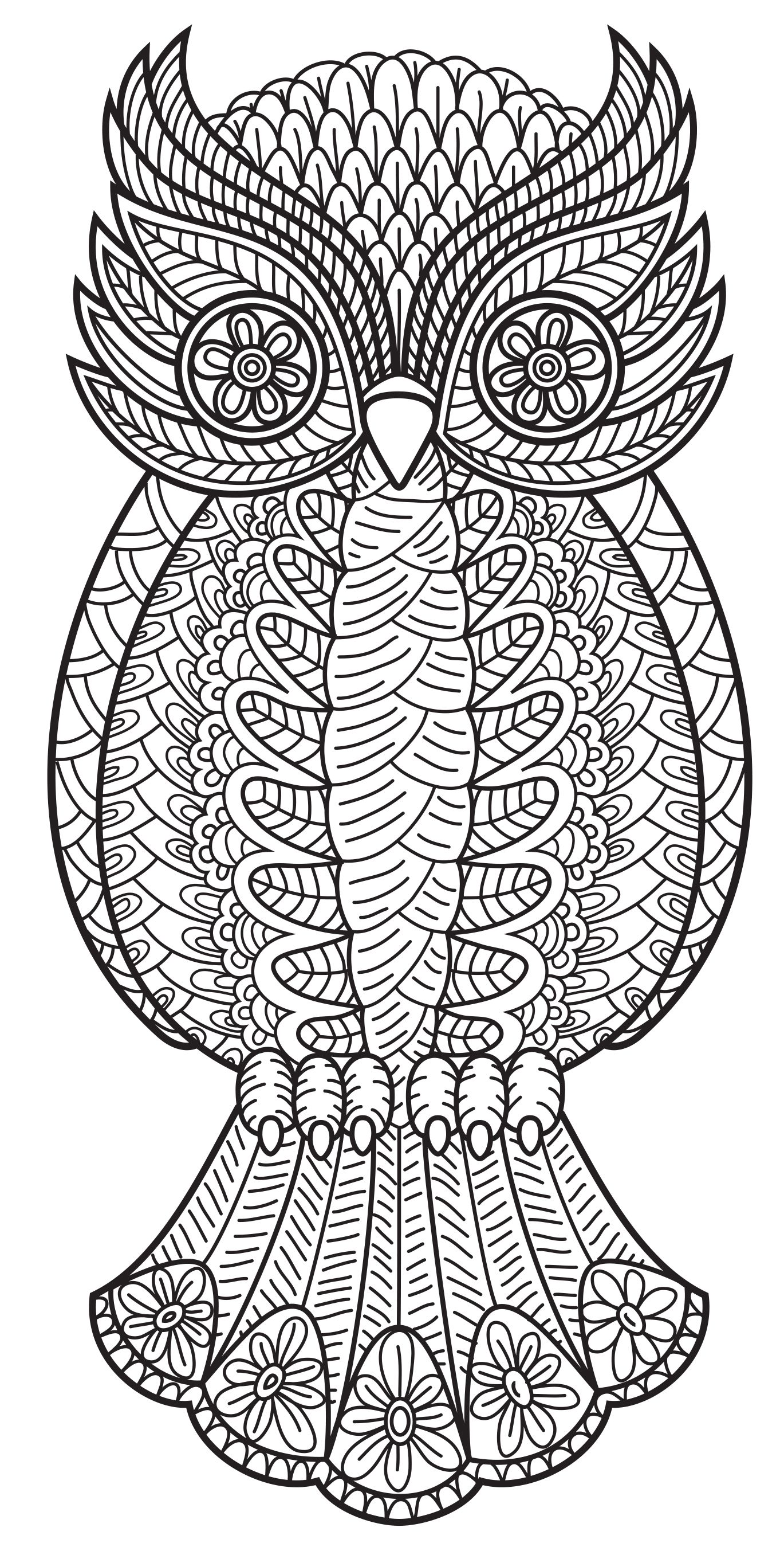An Owl From Patterns Coloring Book Vol 3 | Coloring Pages