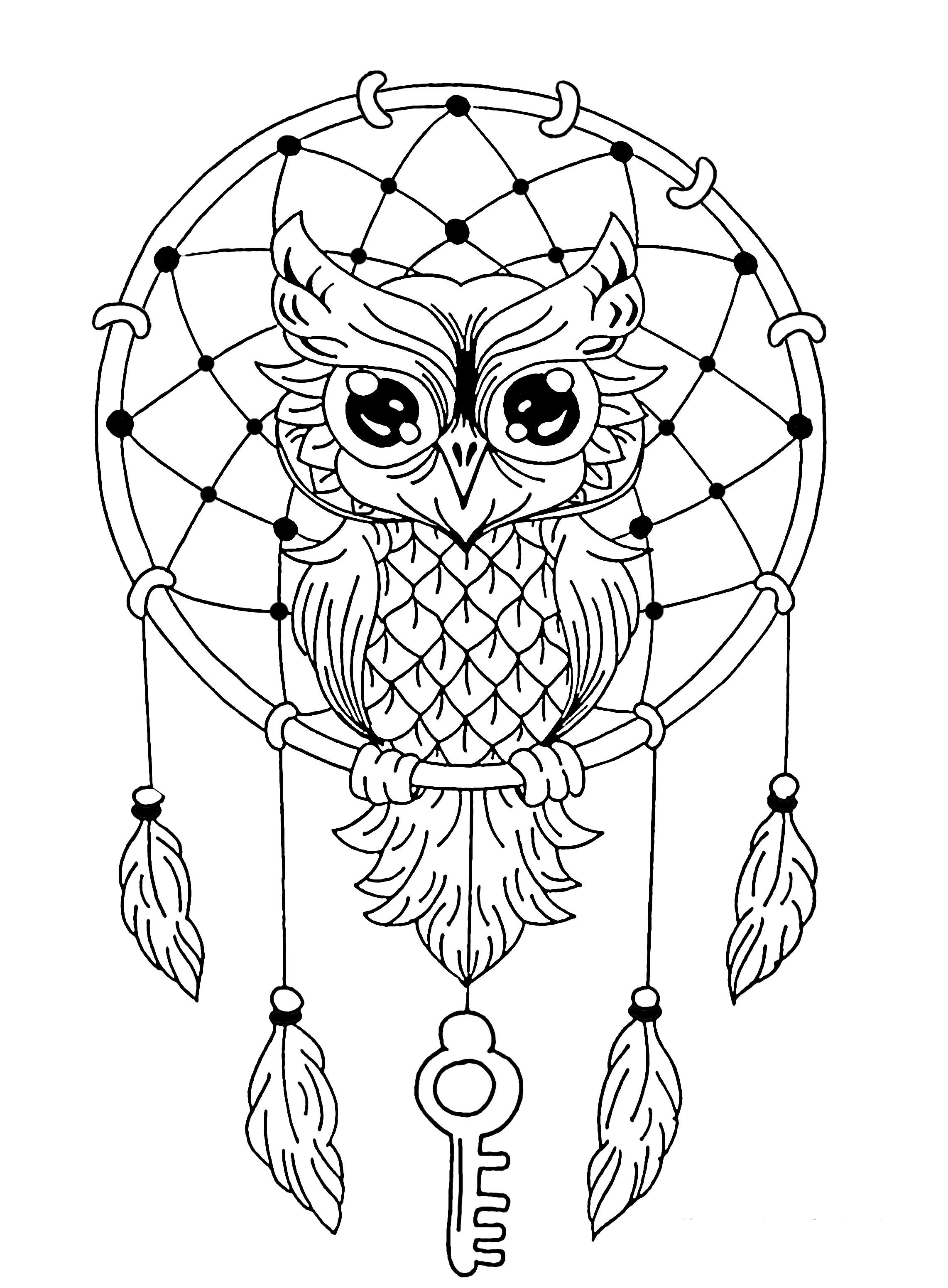 29 Last Concept Coloring Mandala Owl | Adult Coloring Pages