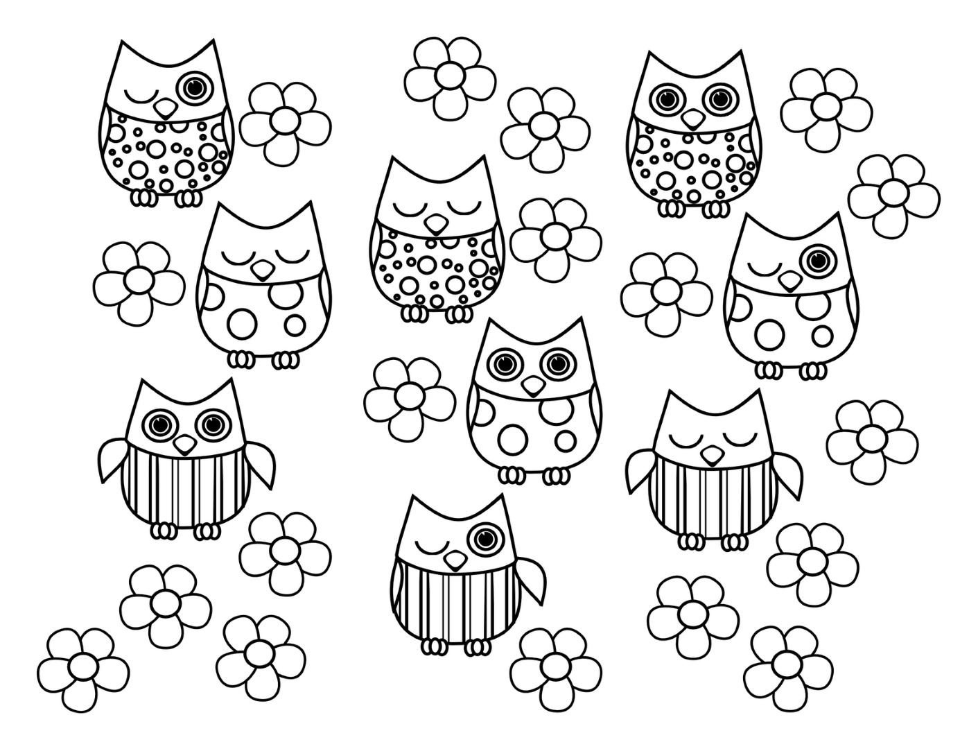 Owl Coloring Pages | Animal Coloring Pages | Owl Coloring