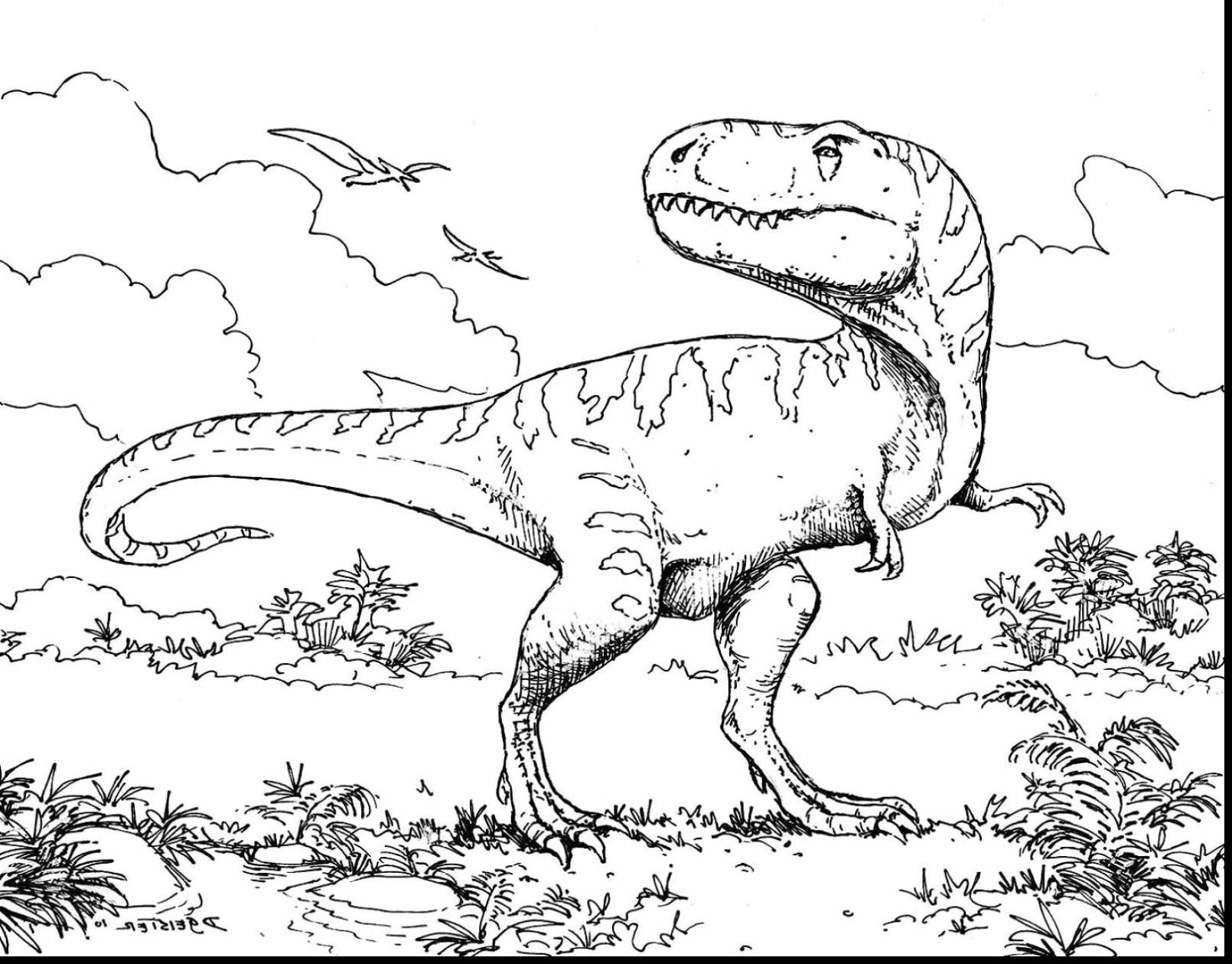 T Rex Coloring Page, T Rex Coloring Pages For Preschoolers