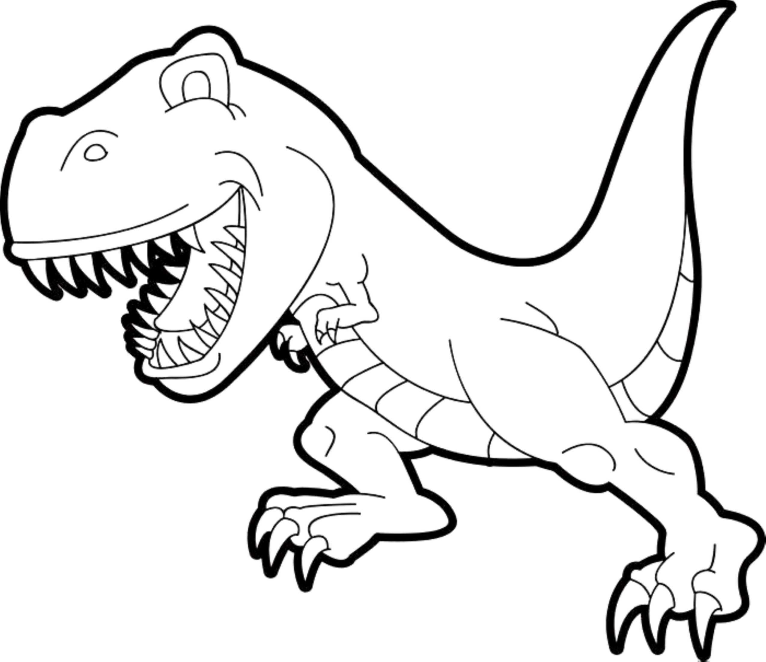 Simple T Rex Coloring Pages | Dinosaur Coloring Pages