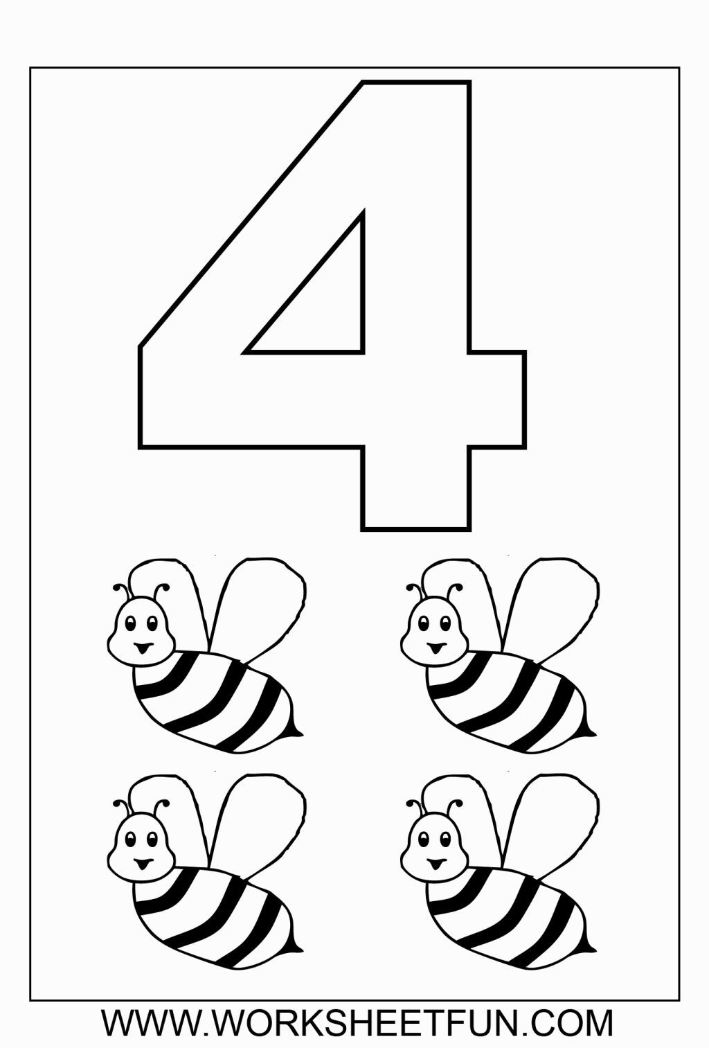 Number 3 Coloring Sheet | Coloring Pages | Kindergarten